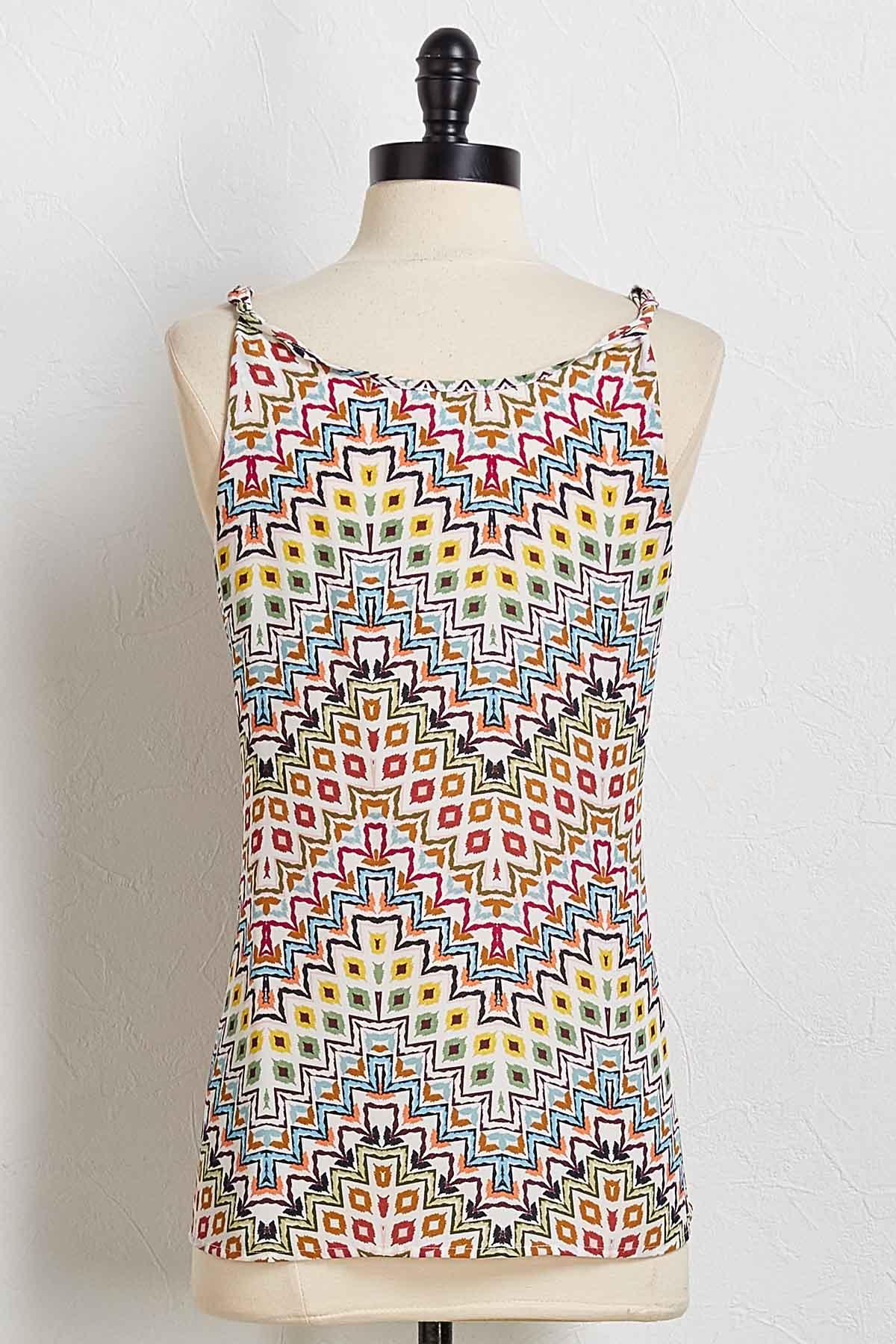 Twist Strap Chevron Tank