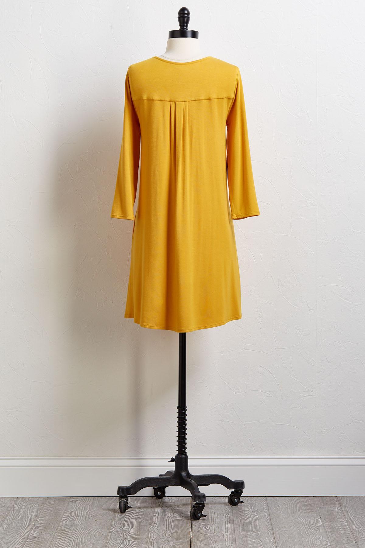 Yellow Swing Tee Dress