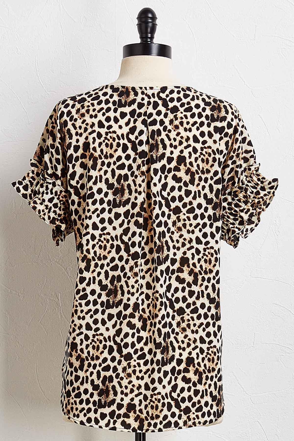 So Fierce Leopard Top