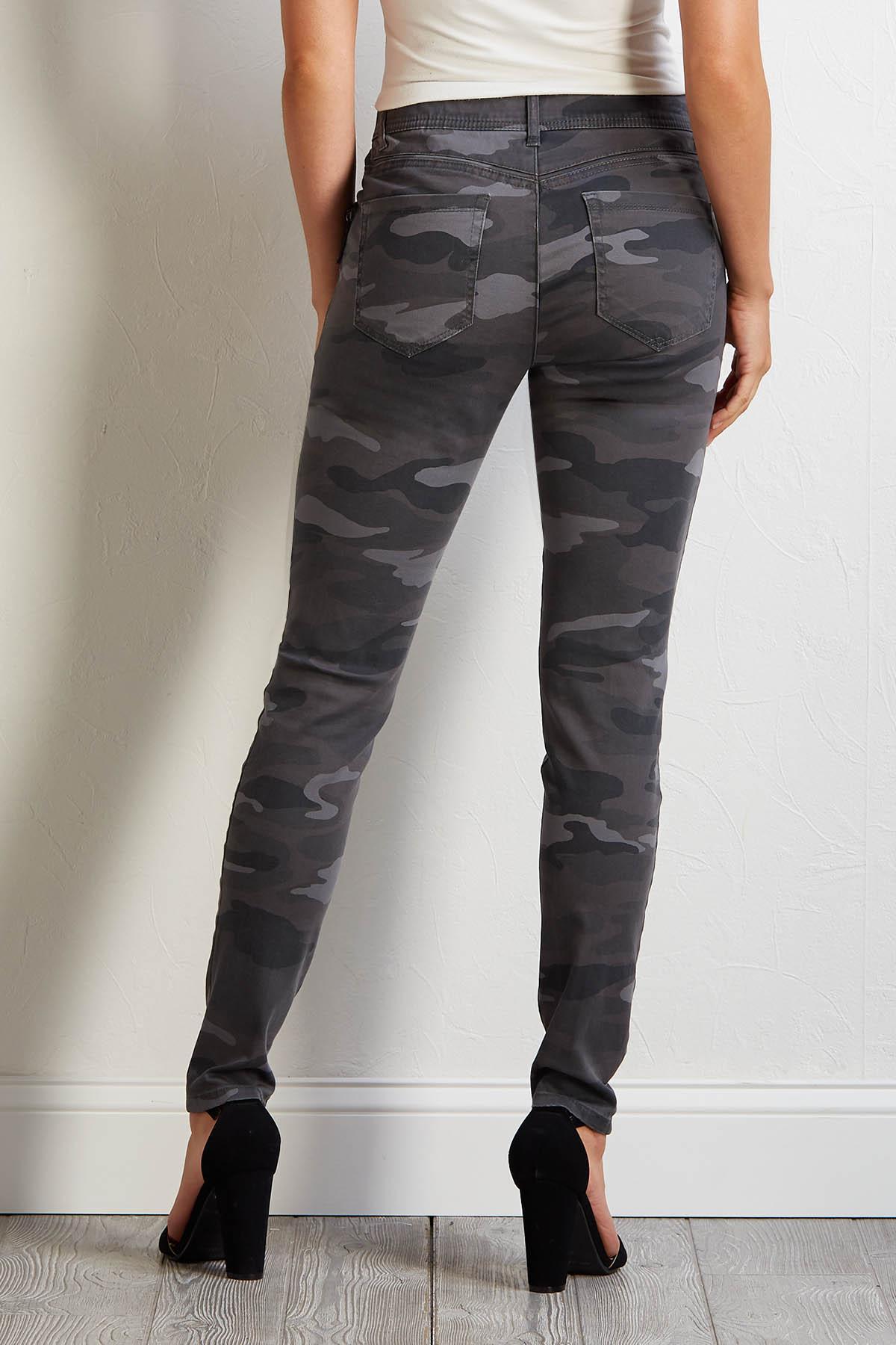 Camo Zip Skinny Pants