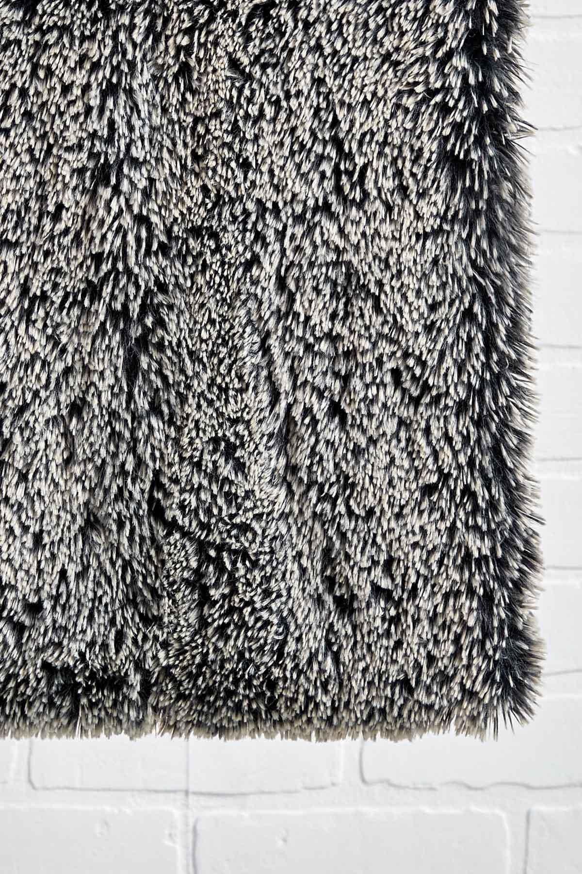 Black Shaggy Cowl Scarf