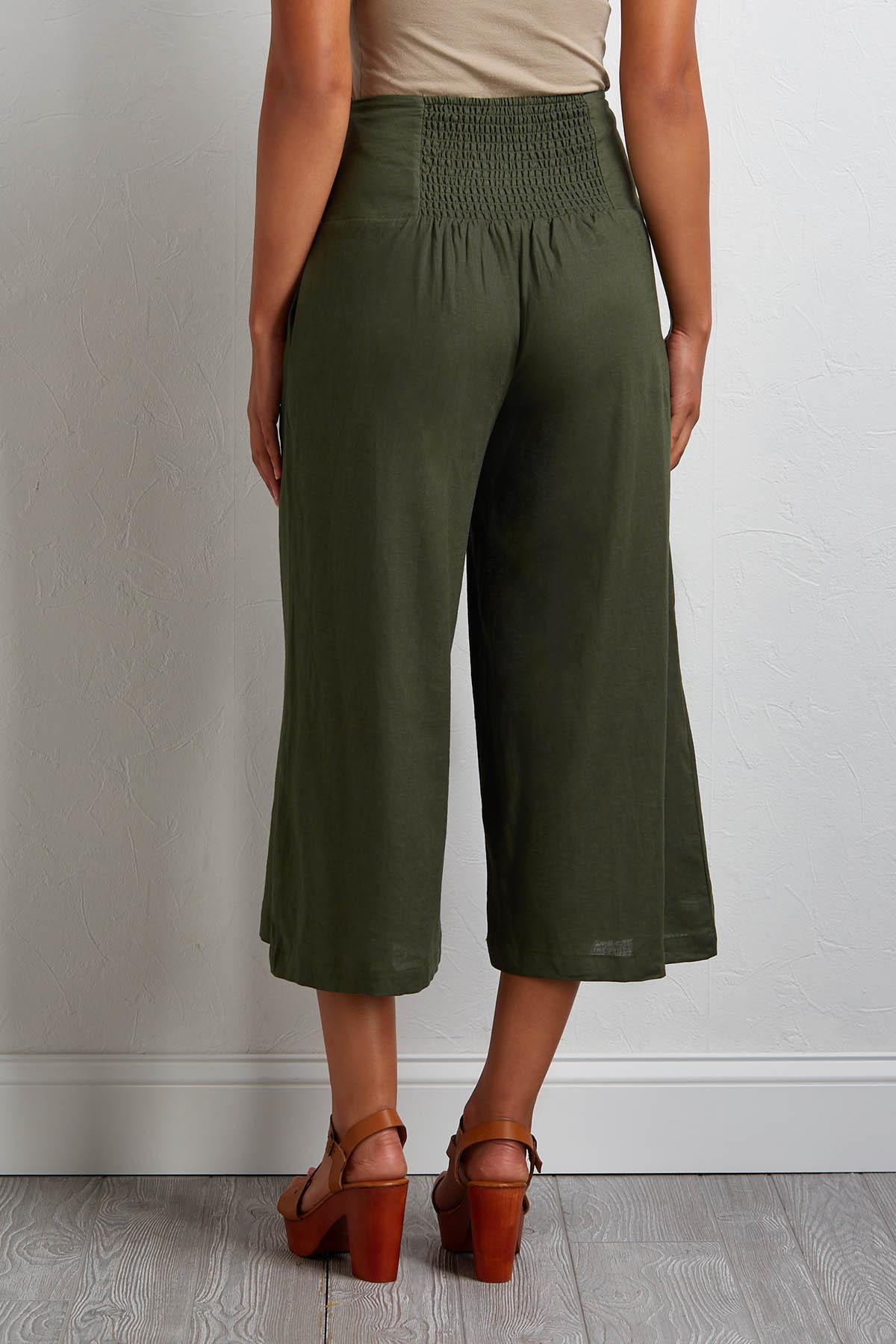 Hello Sailor Cropped Linen Pants