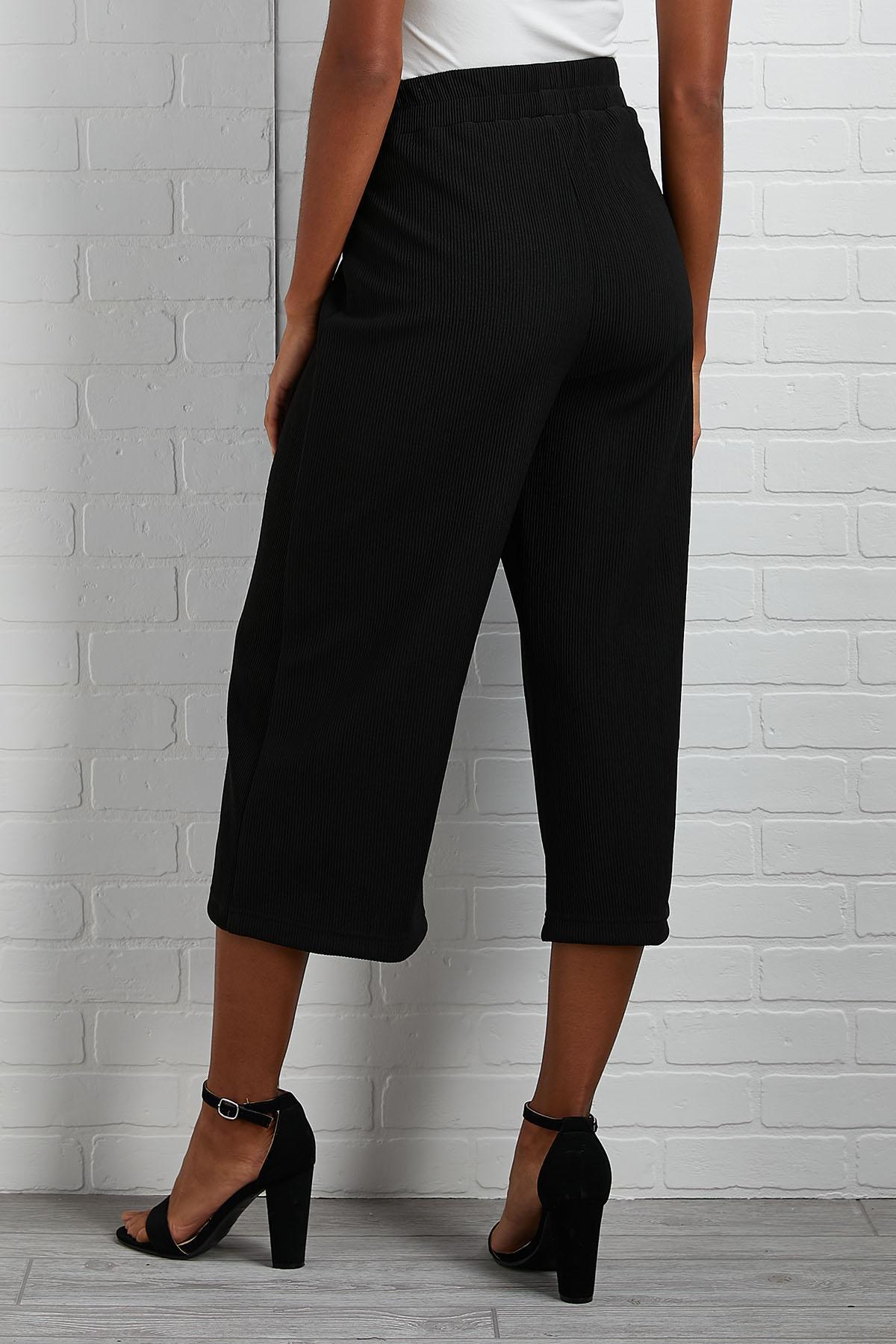 Solid Choice Ribbed Pants