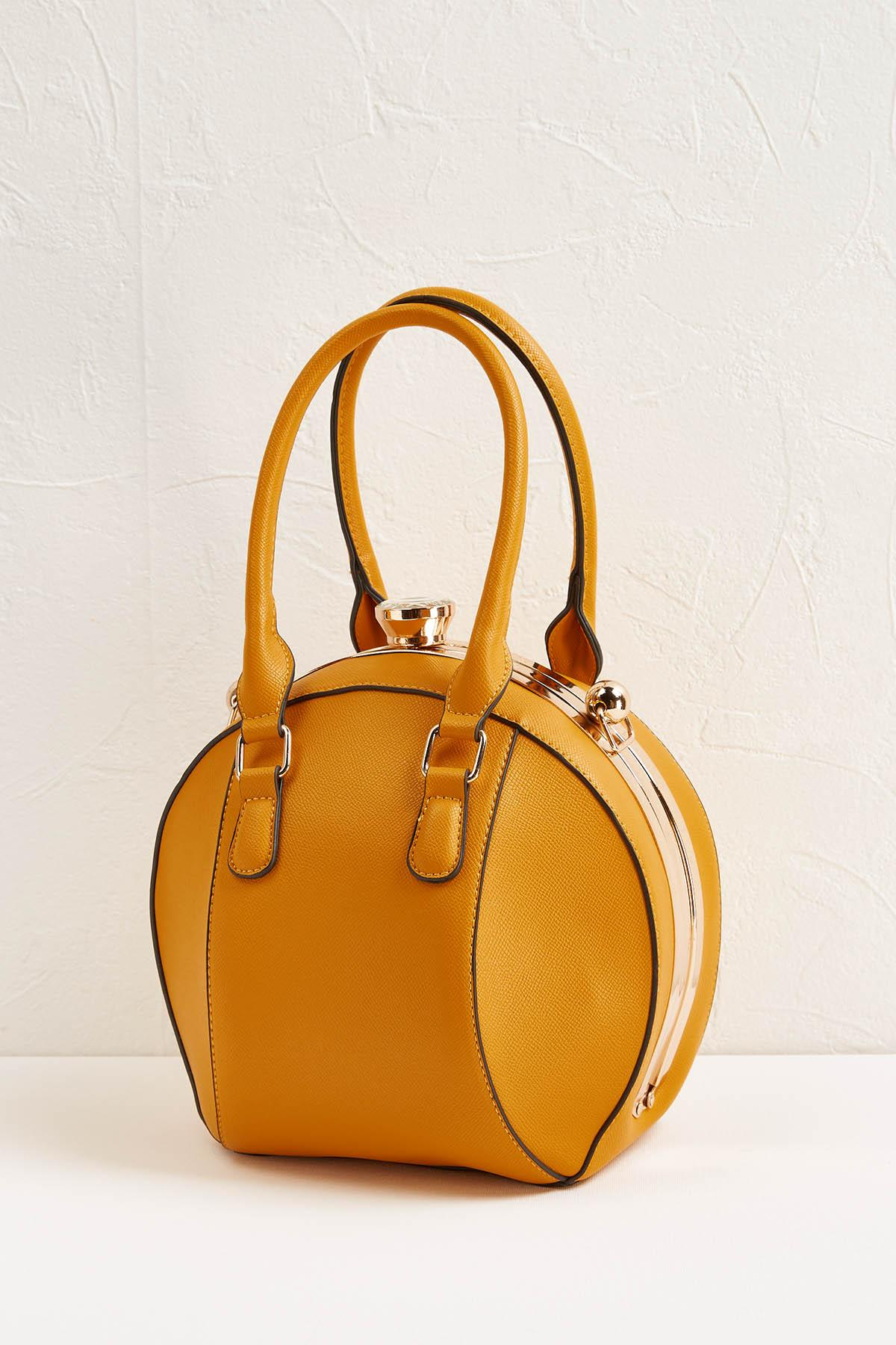 Ball Shaped Yellow Handbag