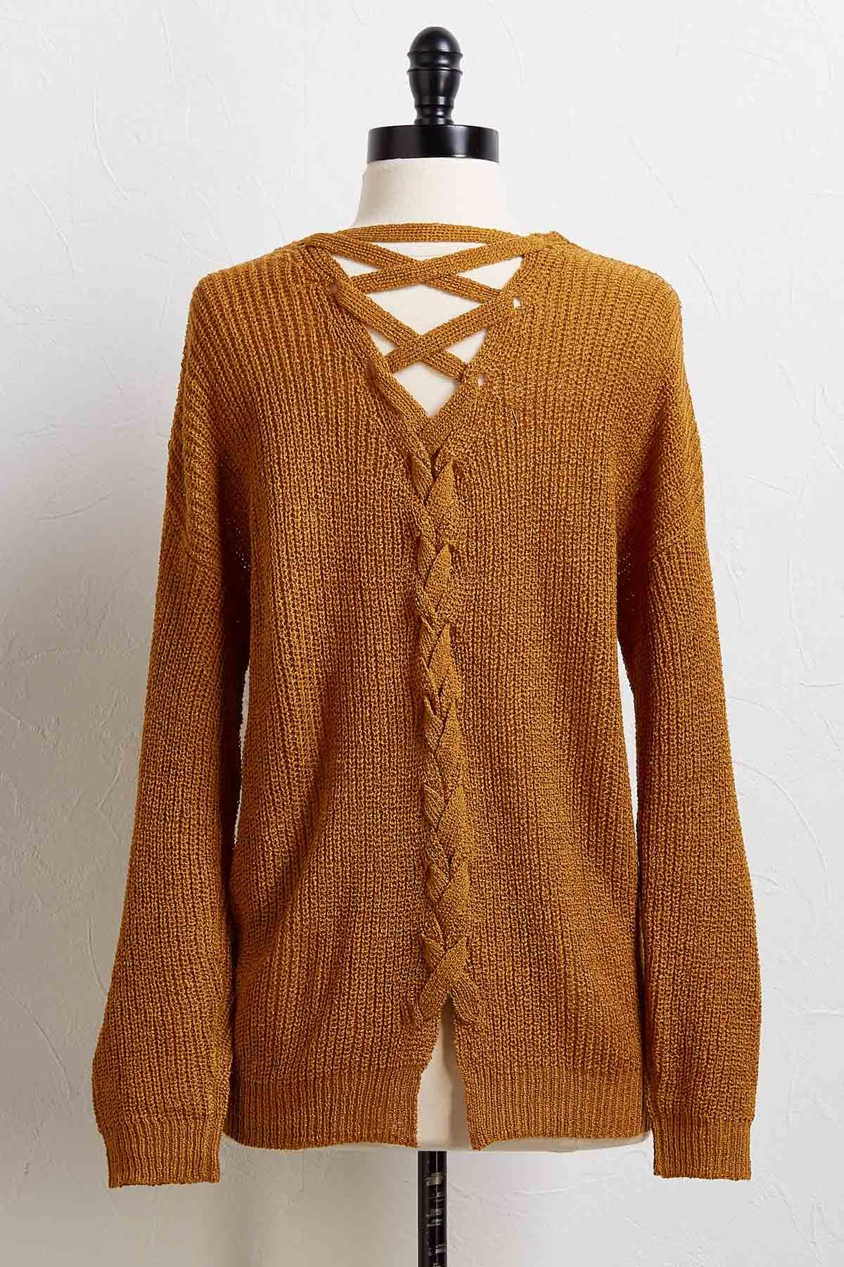 Lattice Back Sweater