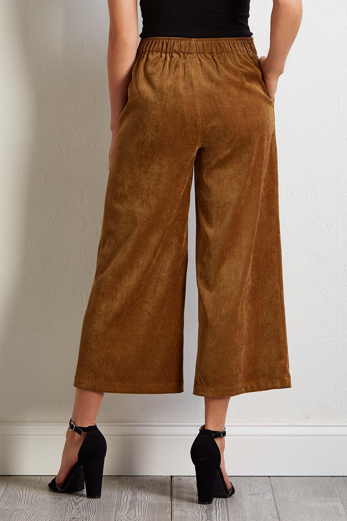 Cropped Corduroy Pants