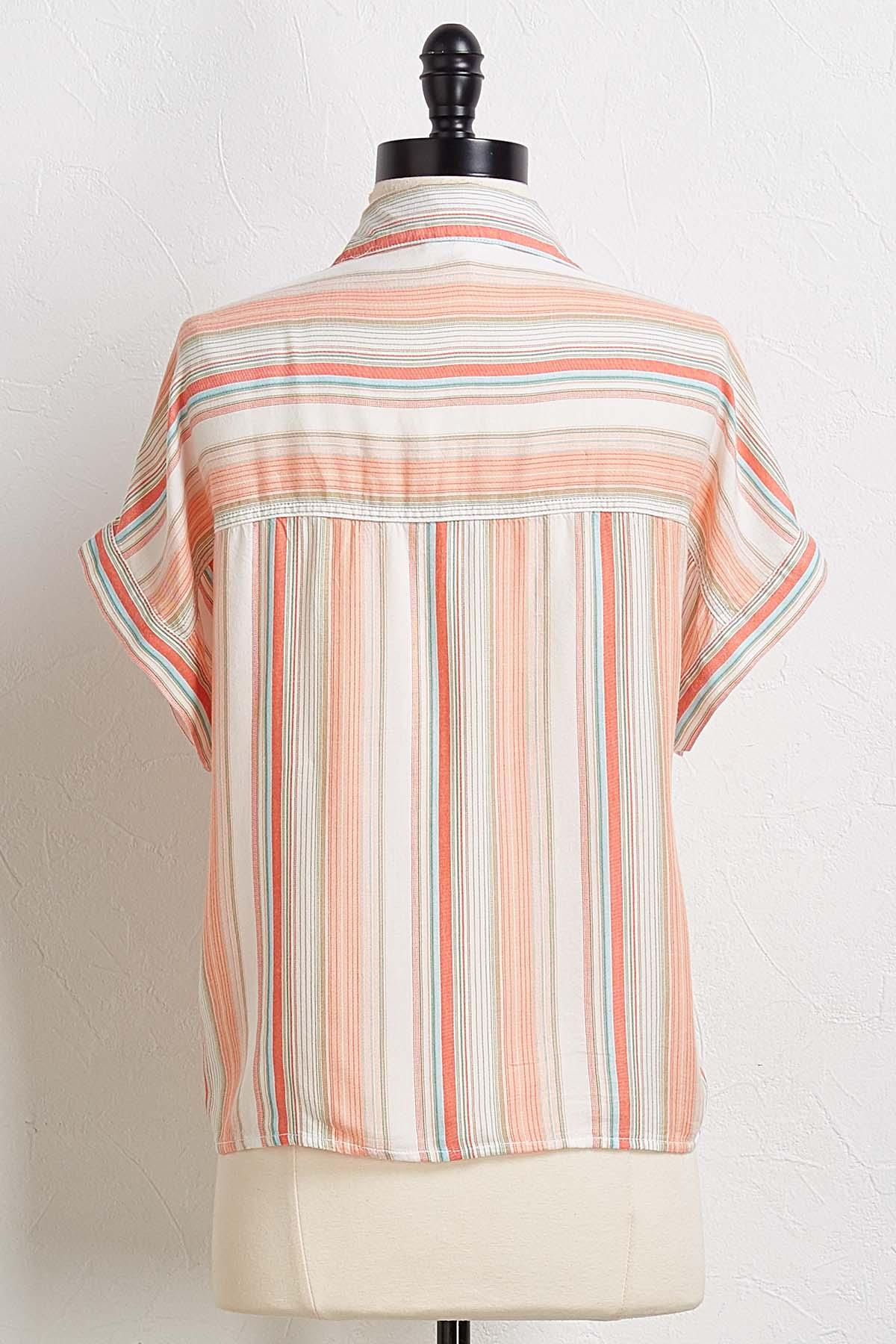 Coral Sands Striped Top