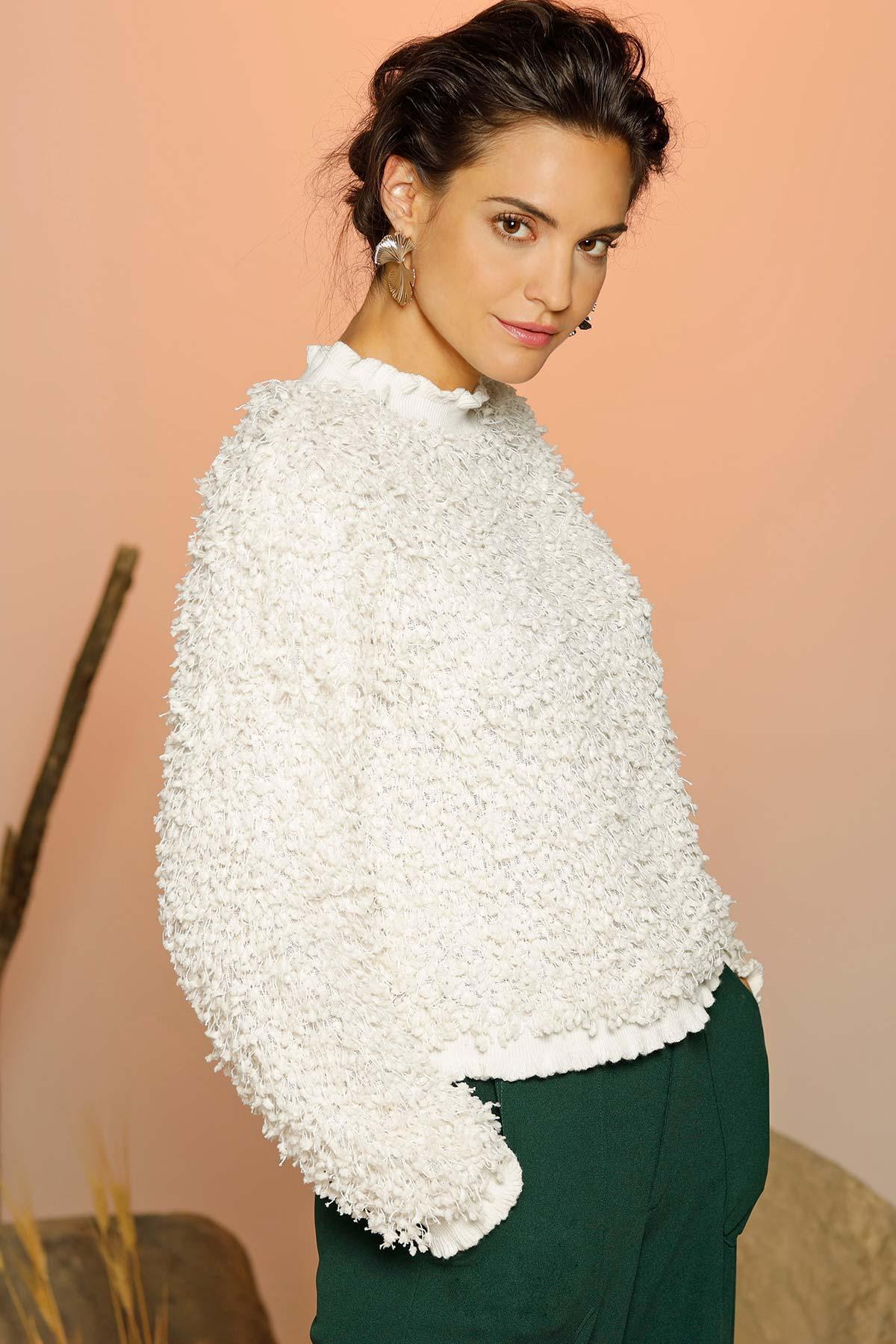Eyelash Confetti Fringe Sweater