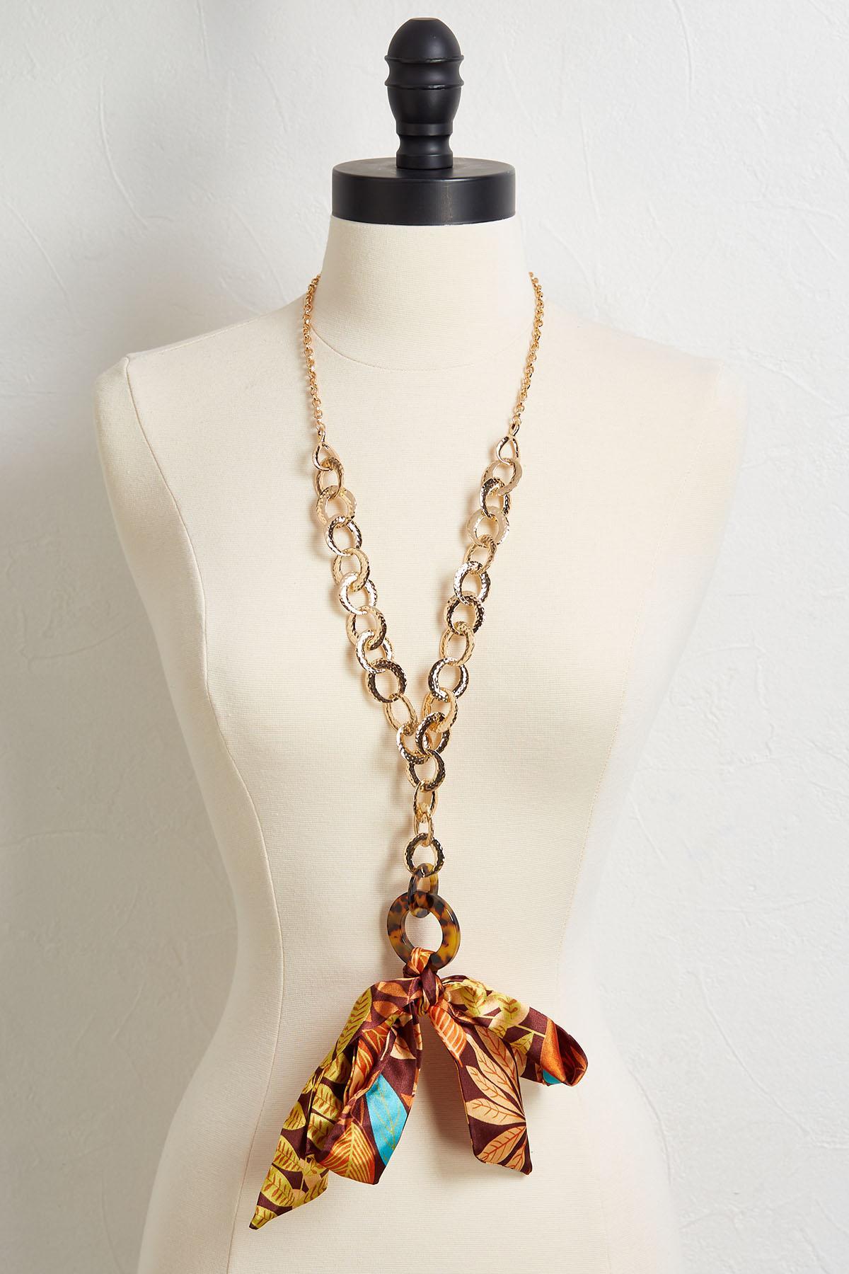 Scarf Embellished Necklace