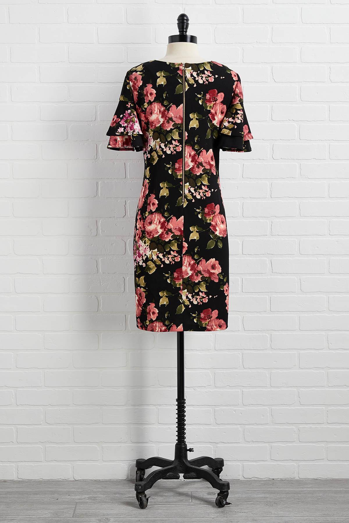 Big Florals Don ` T Cry Dress