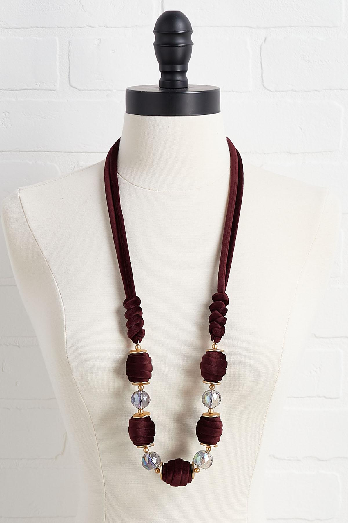 Velvet Crystal Necklace