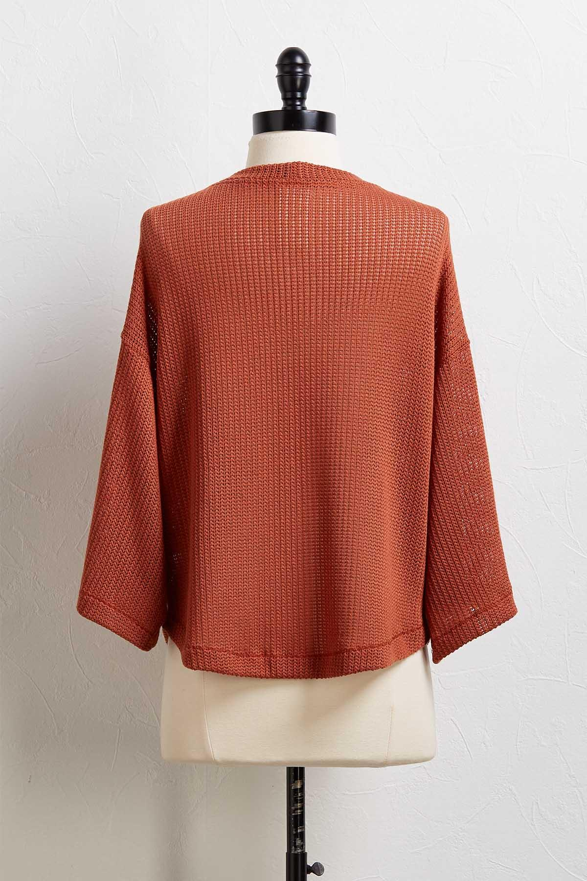 Caramel Button Sweater