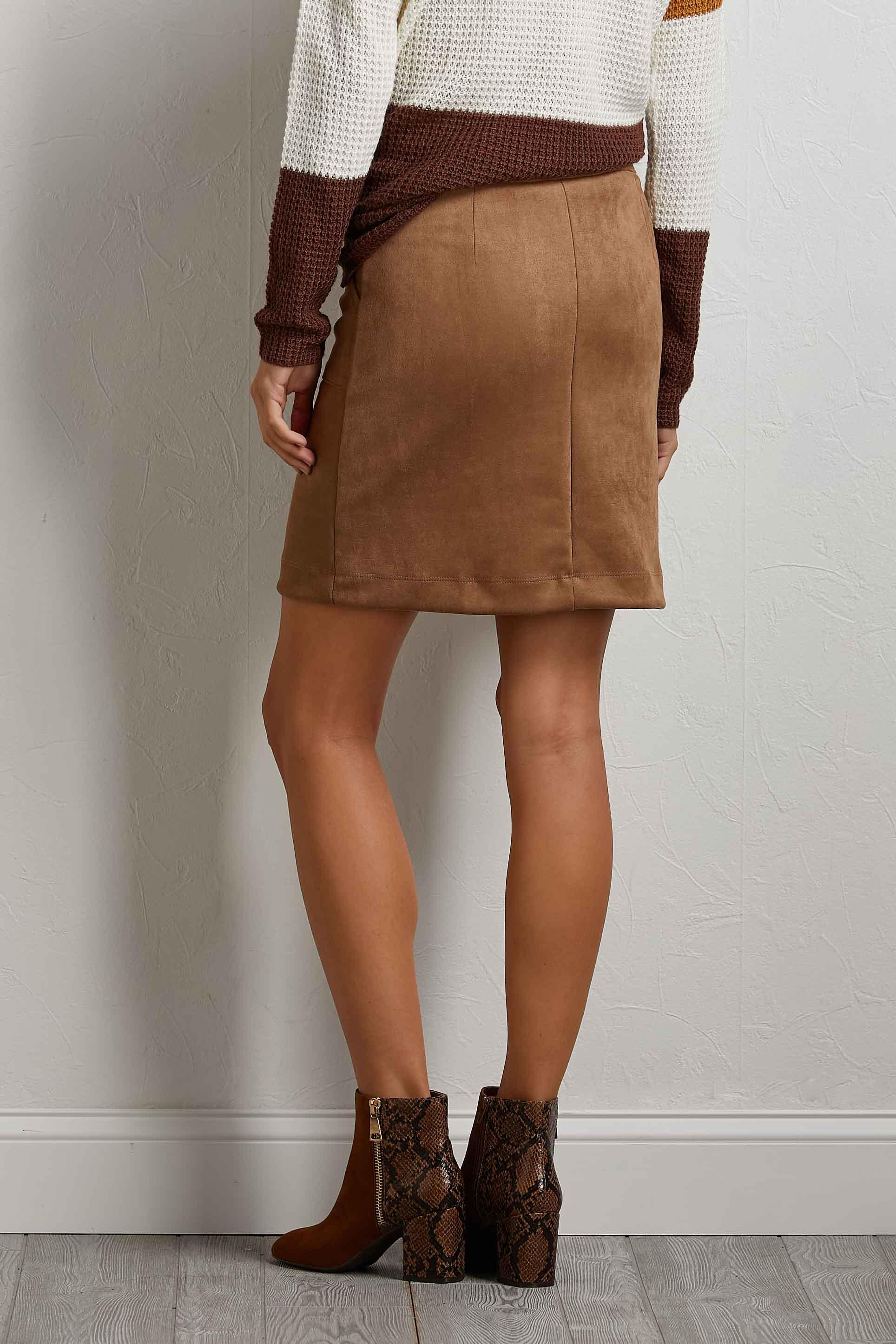 Iced Coffee Mini Skirt