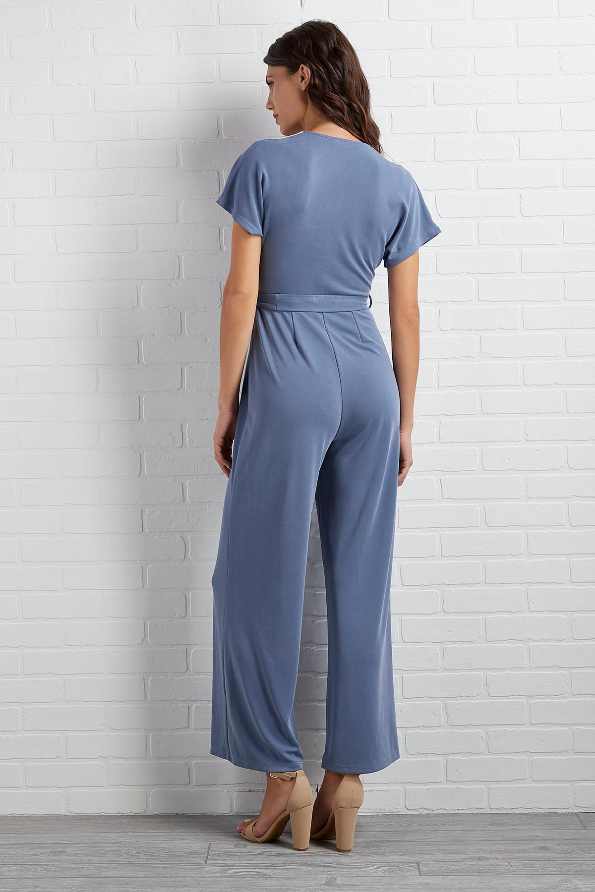 Dolman Sleeve Belted Jumpsuit