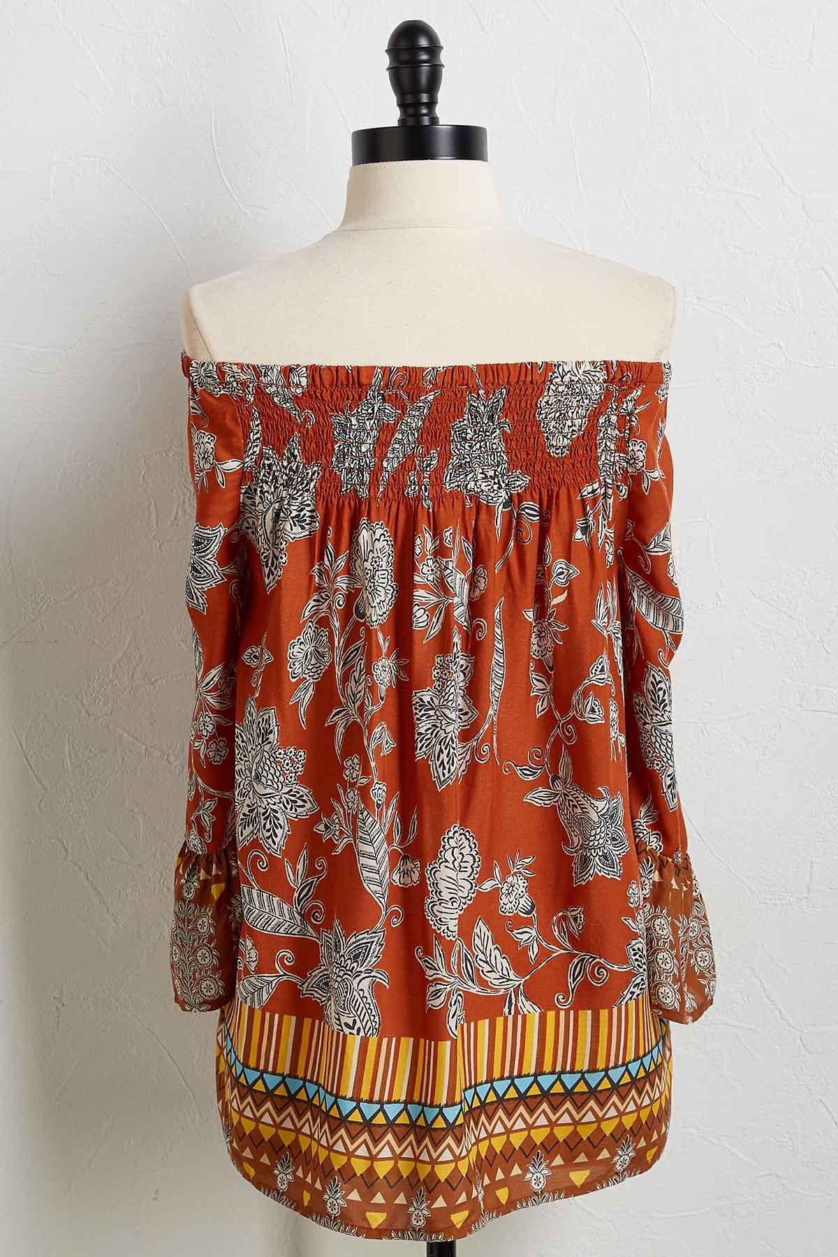 Floral Tribal Top