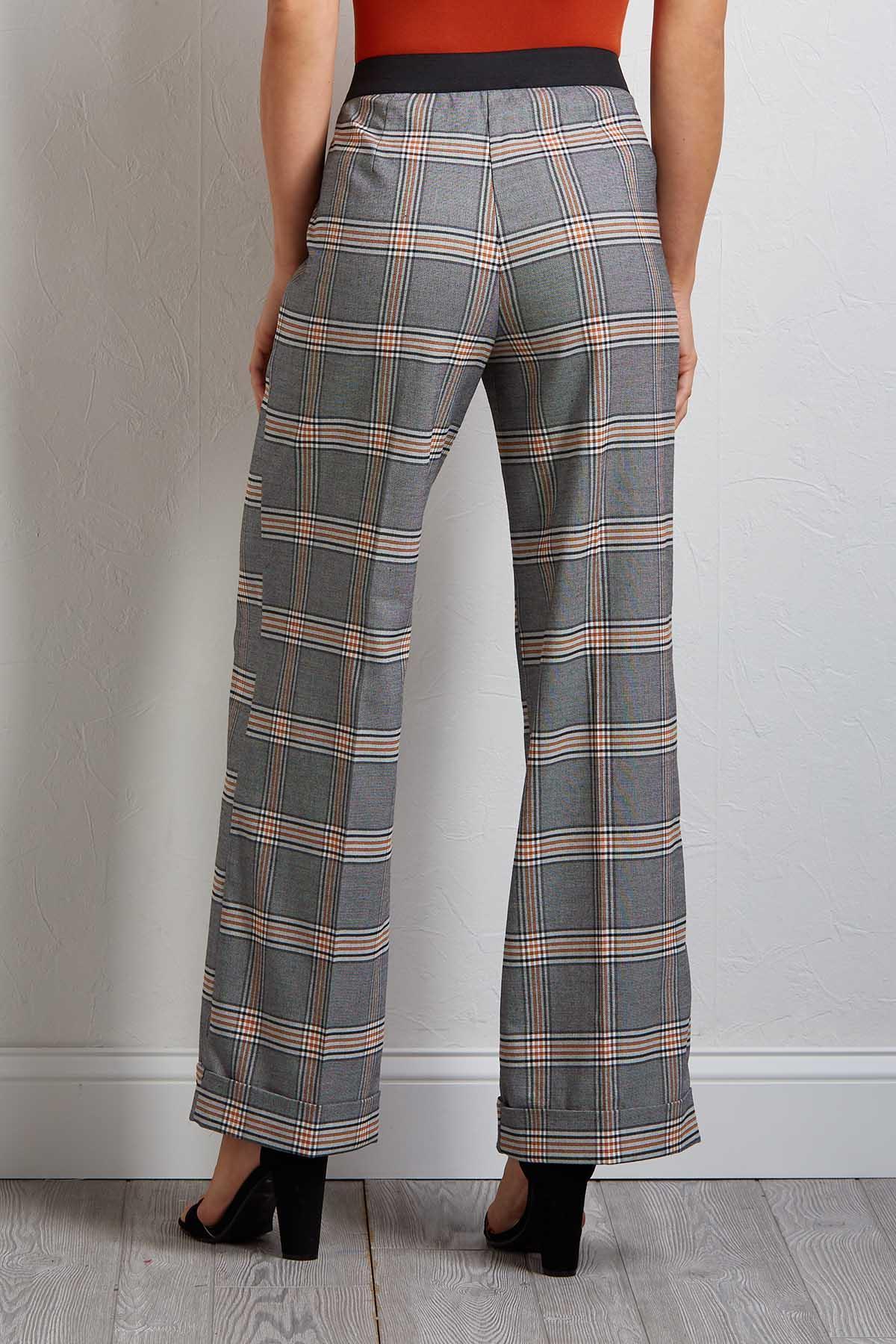 Proper Plaid Cuffed Pants