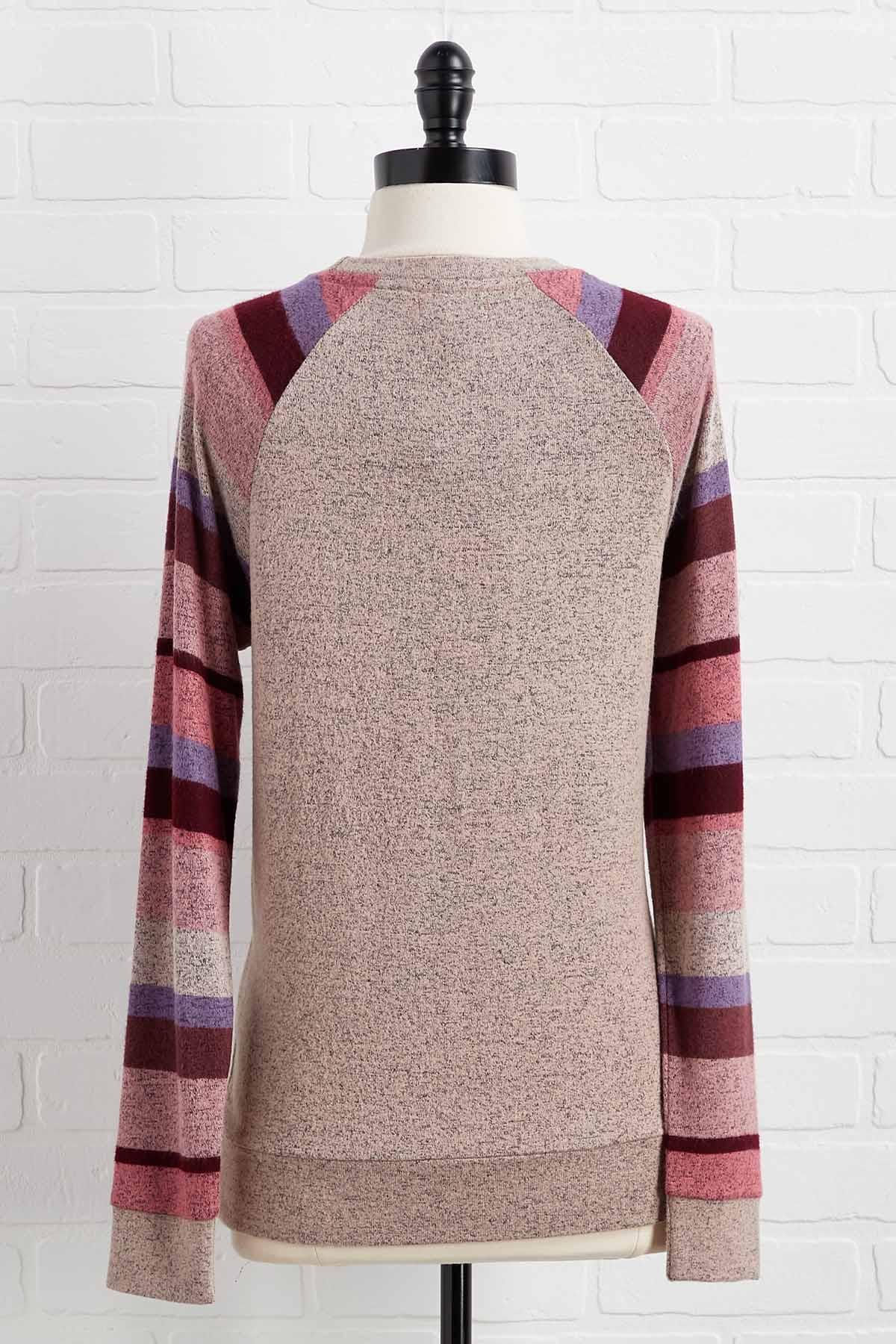 Stripe Sleeve Top