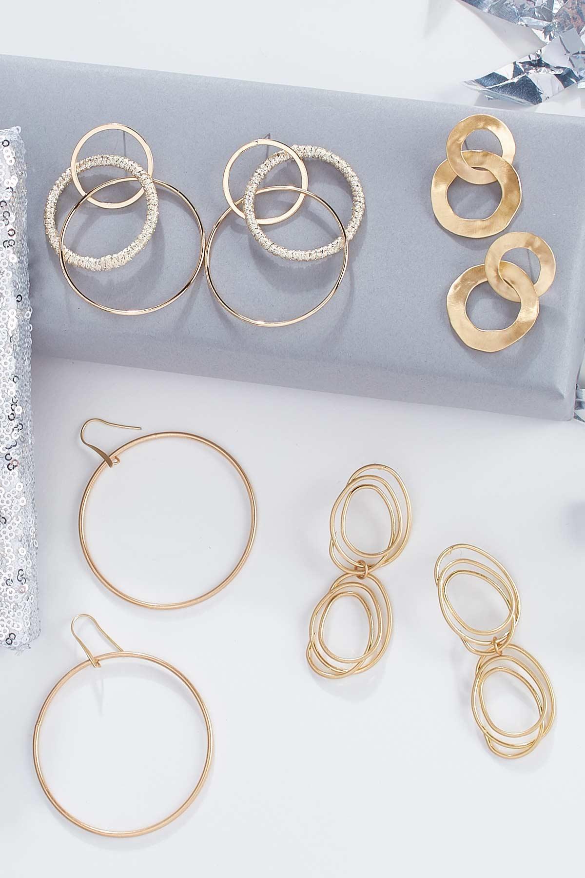 Hammered Double Hoop Earrings