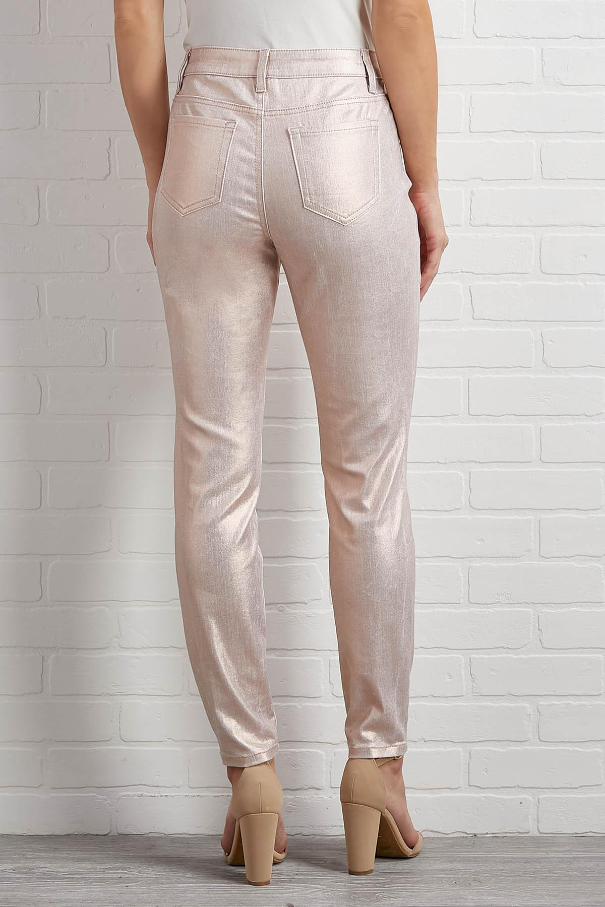 Sparkle On Skinny Jeans