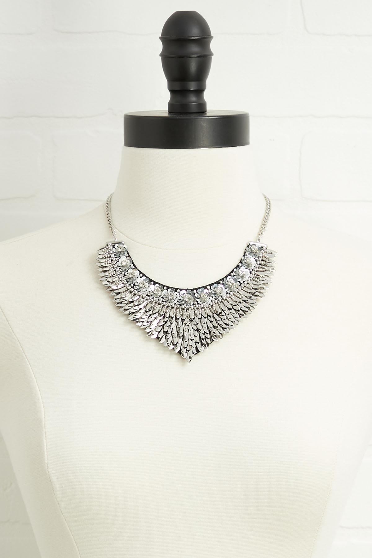 Edgy Fan Bib Necklace