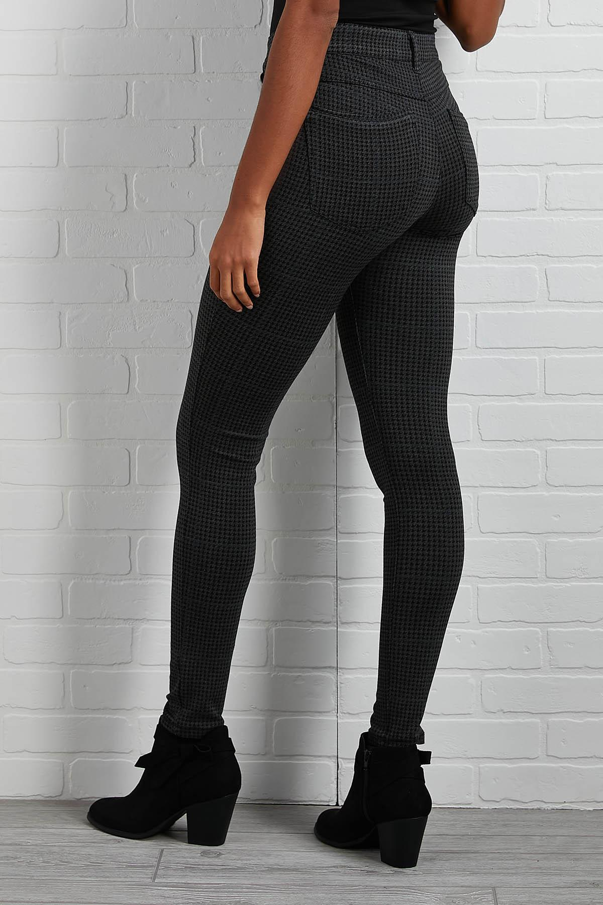 Houndstooth Ponte Pants