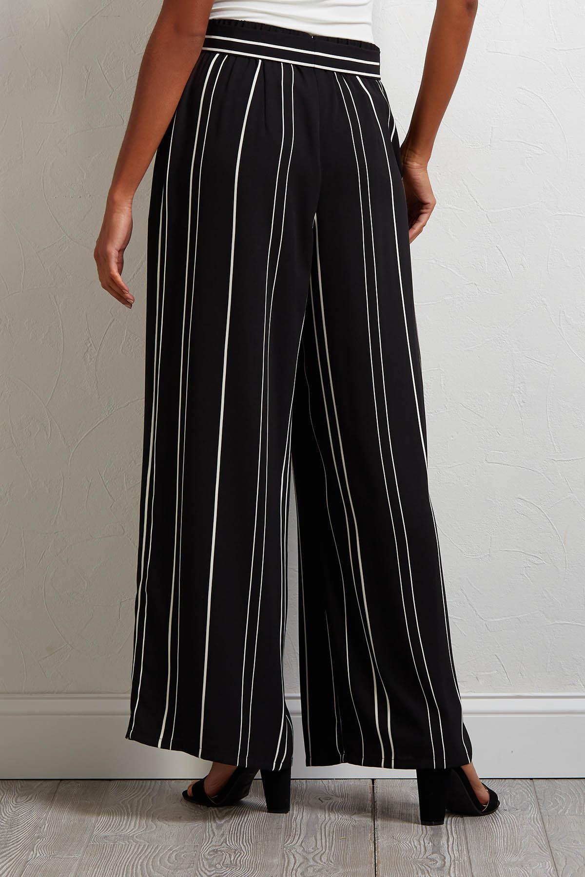 Wide Leg Striped Pants