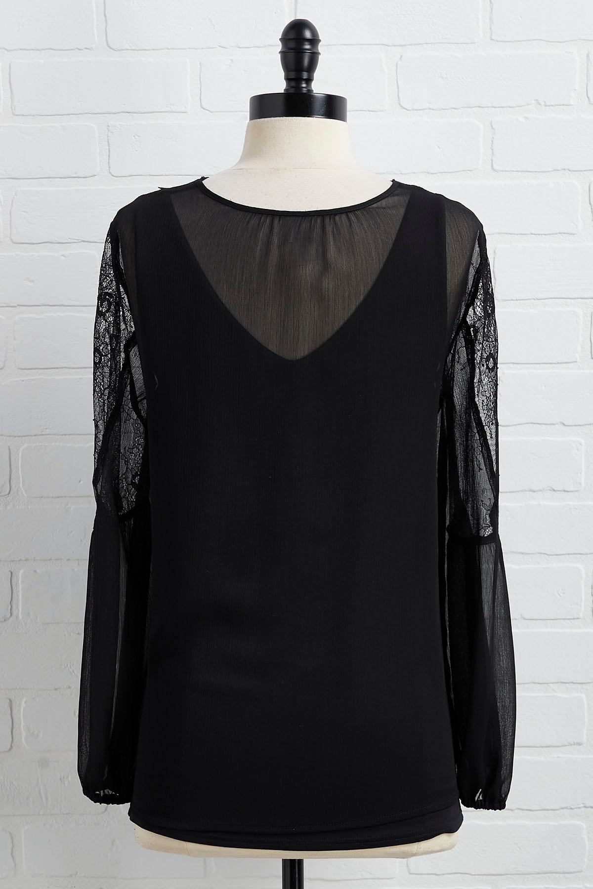 Back To Black Lace Top