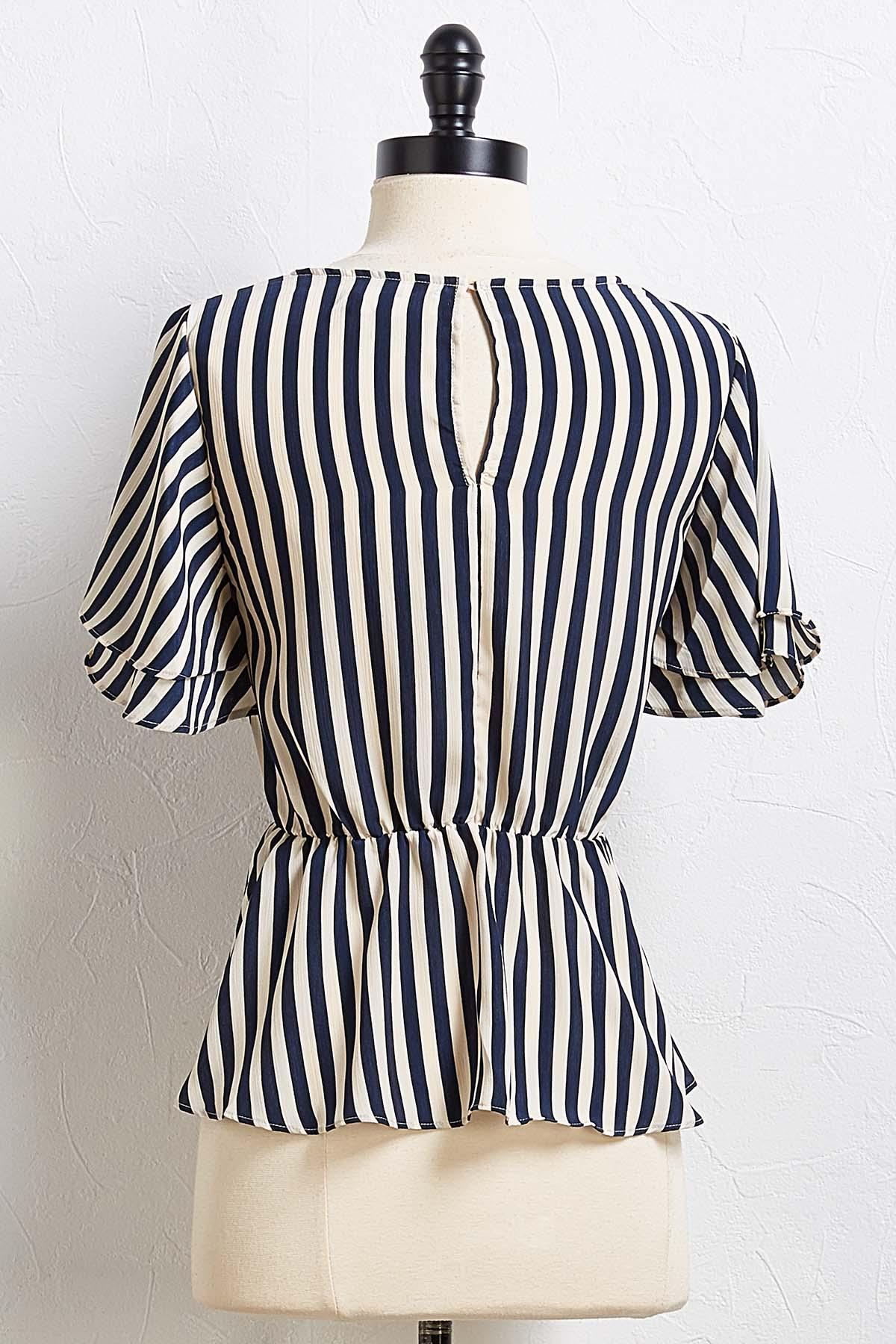 Play Your Cards Stripe Top