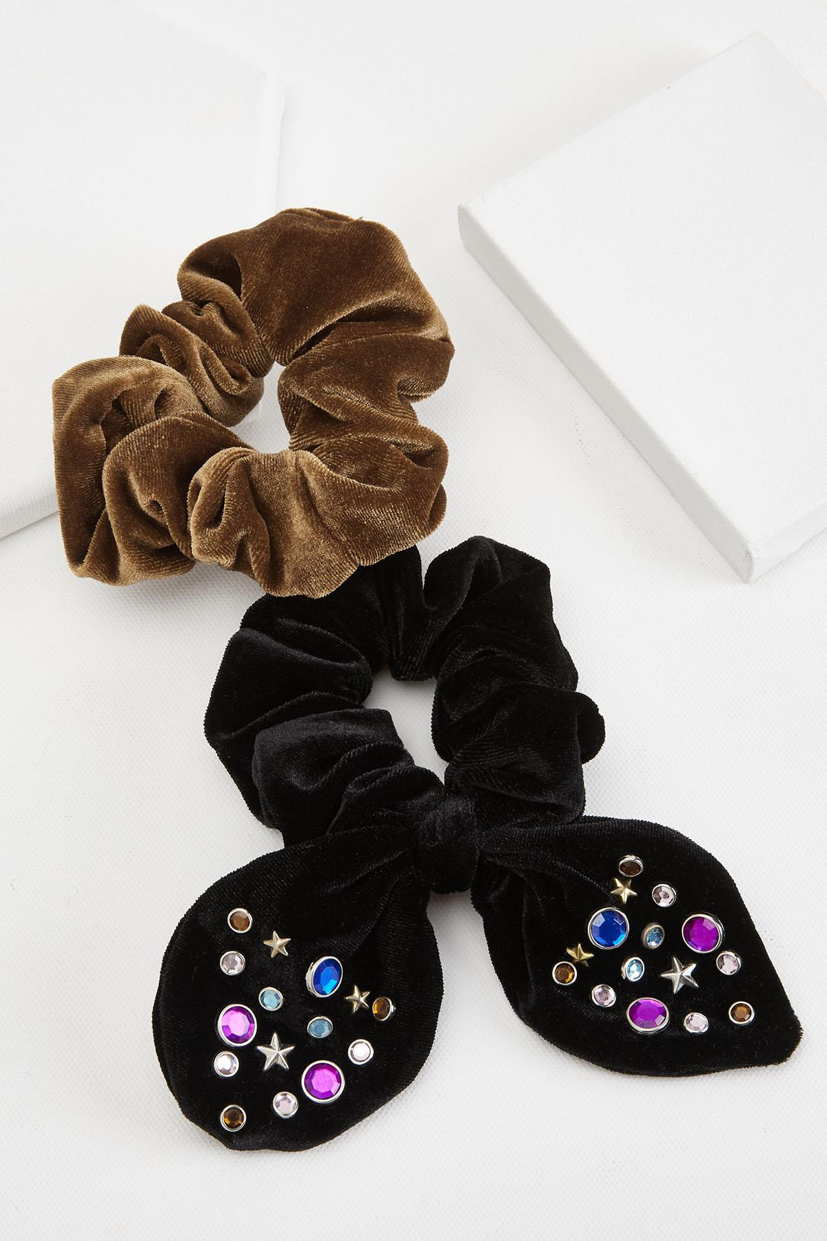 Embellished Bow Scrunchie