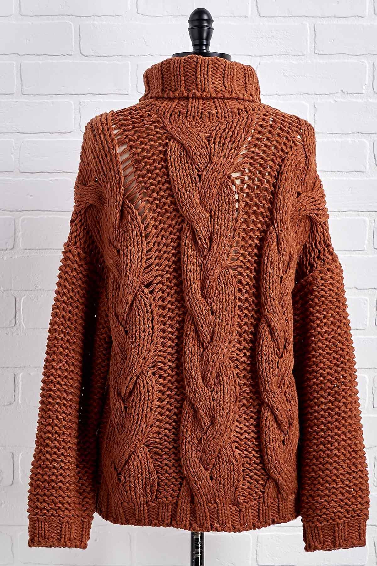 Sweet Caramel Turtleneck Sweater