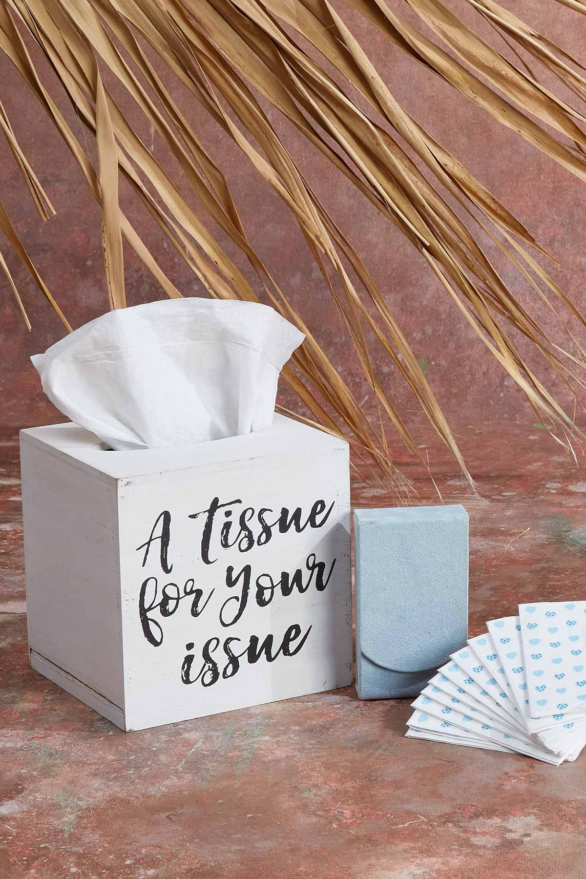 A Tissue For Your Issues Tissue Box Holder
