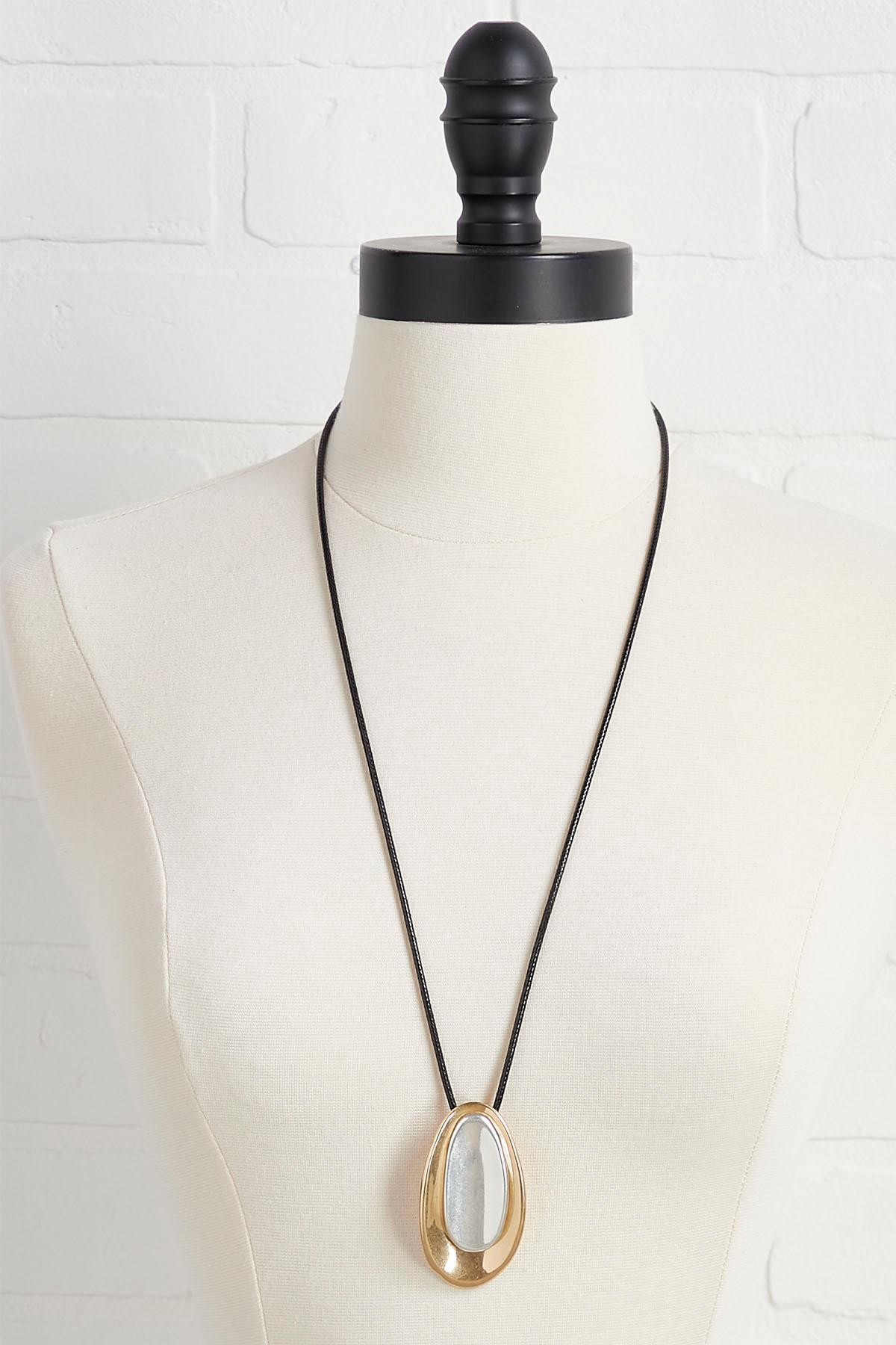 Gold And Silver Pendant Necklace