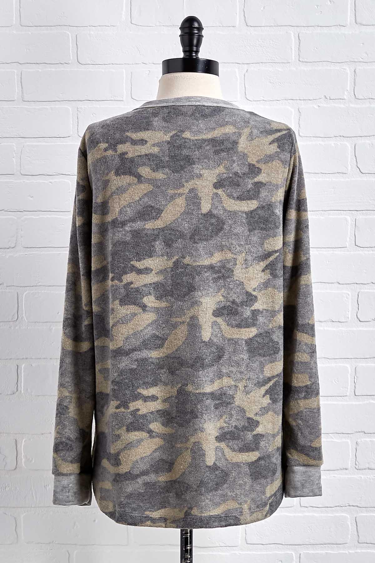 Brushed Camo Top