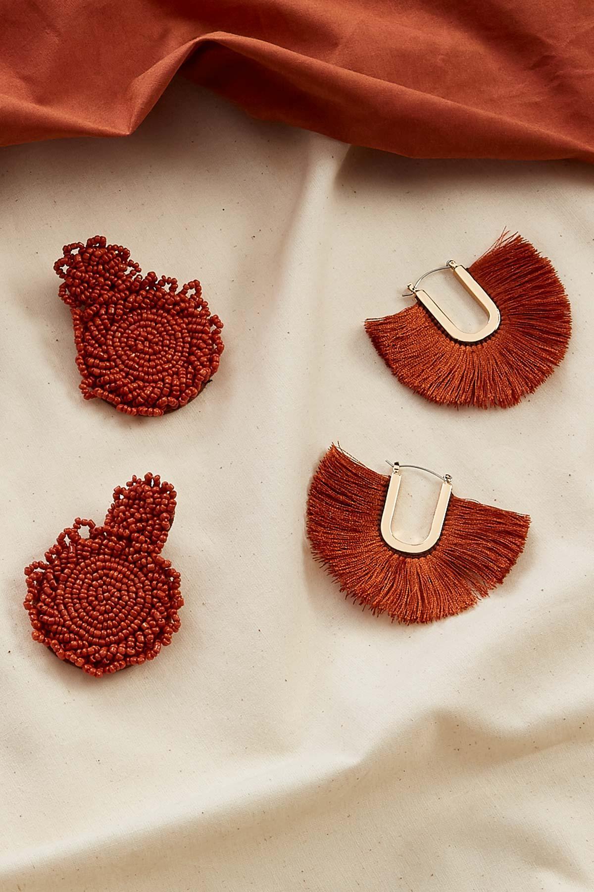 Statement Beaded Earrings