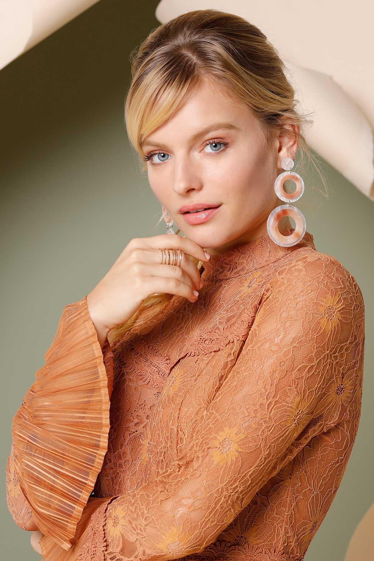 Circular Lucite Earrings