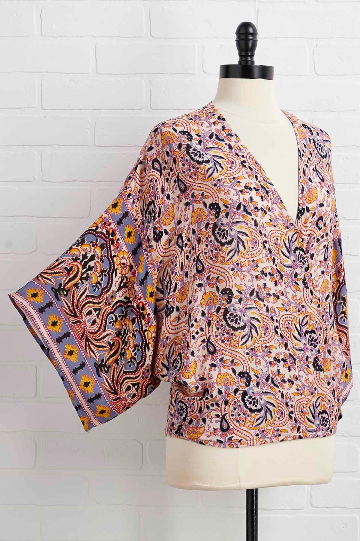 Paisley To Be Nice Top