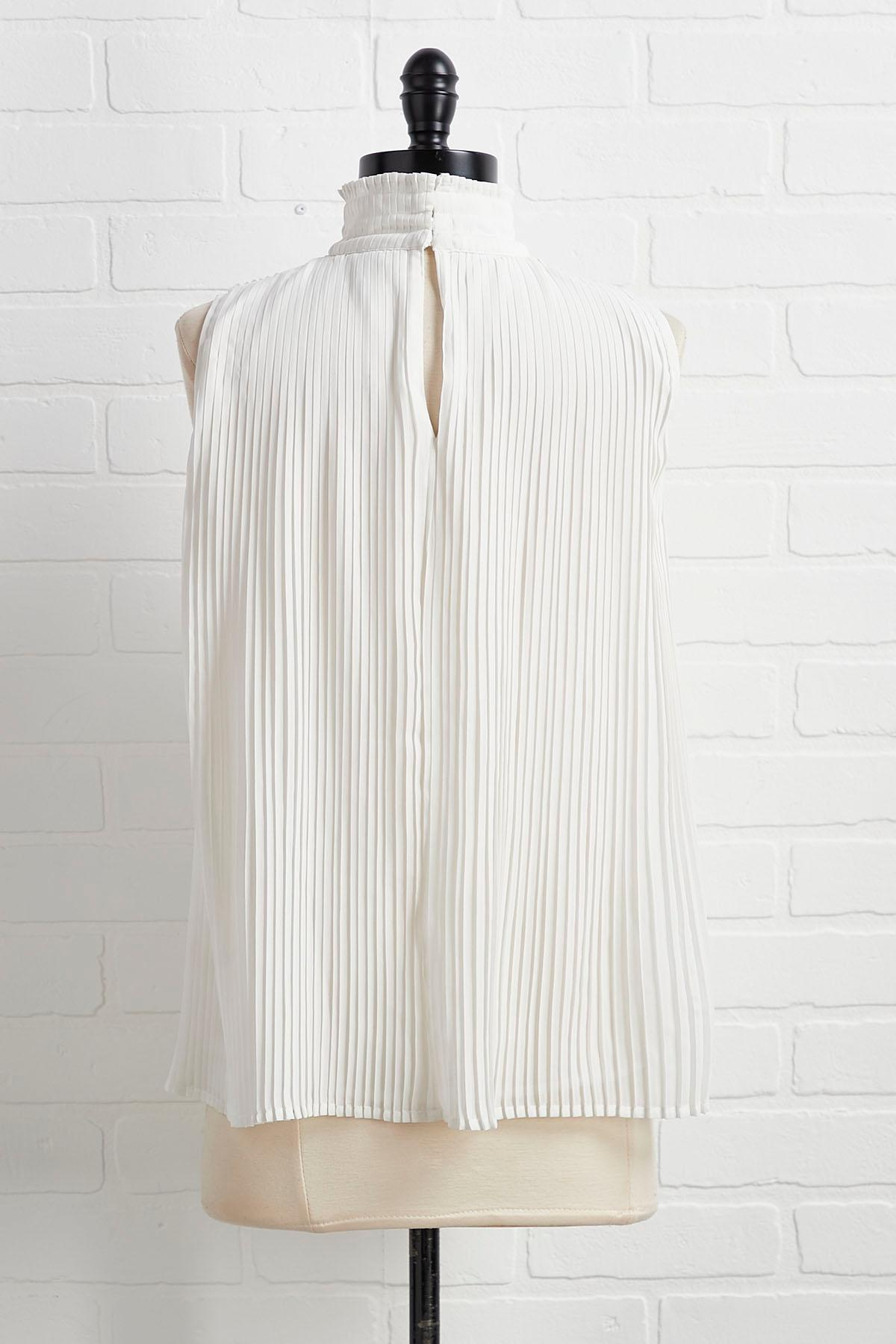 Turning Up The Pleat Top