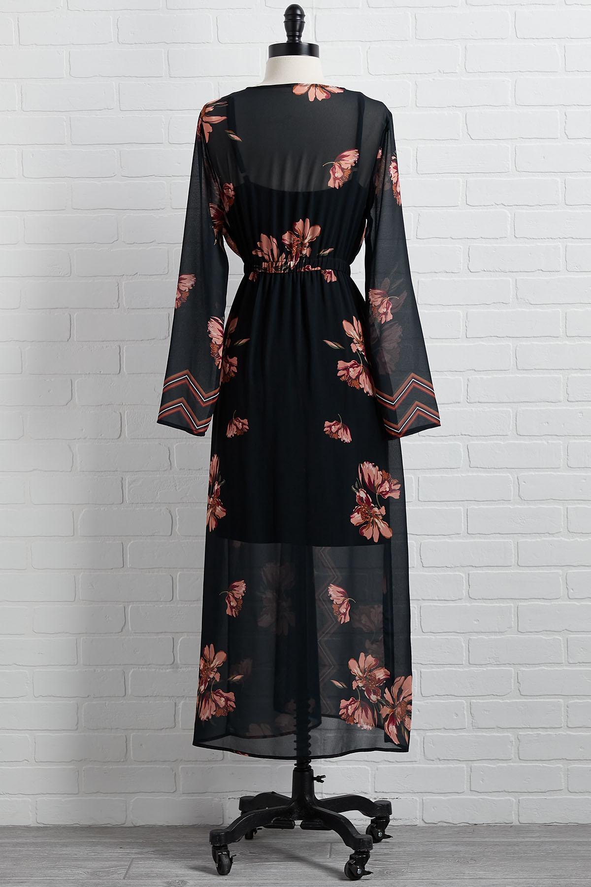 Dreaming Of Spring Kimono Dress