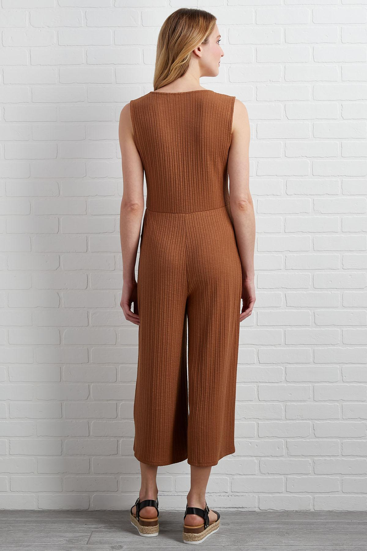 Did You Get My Textured Jumpsuit