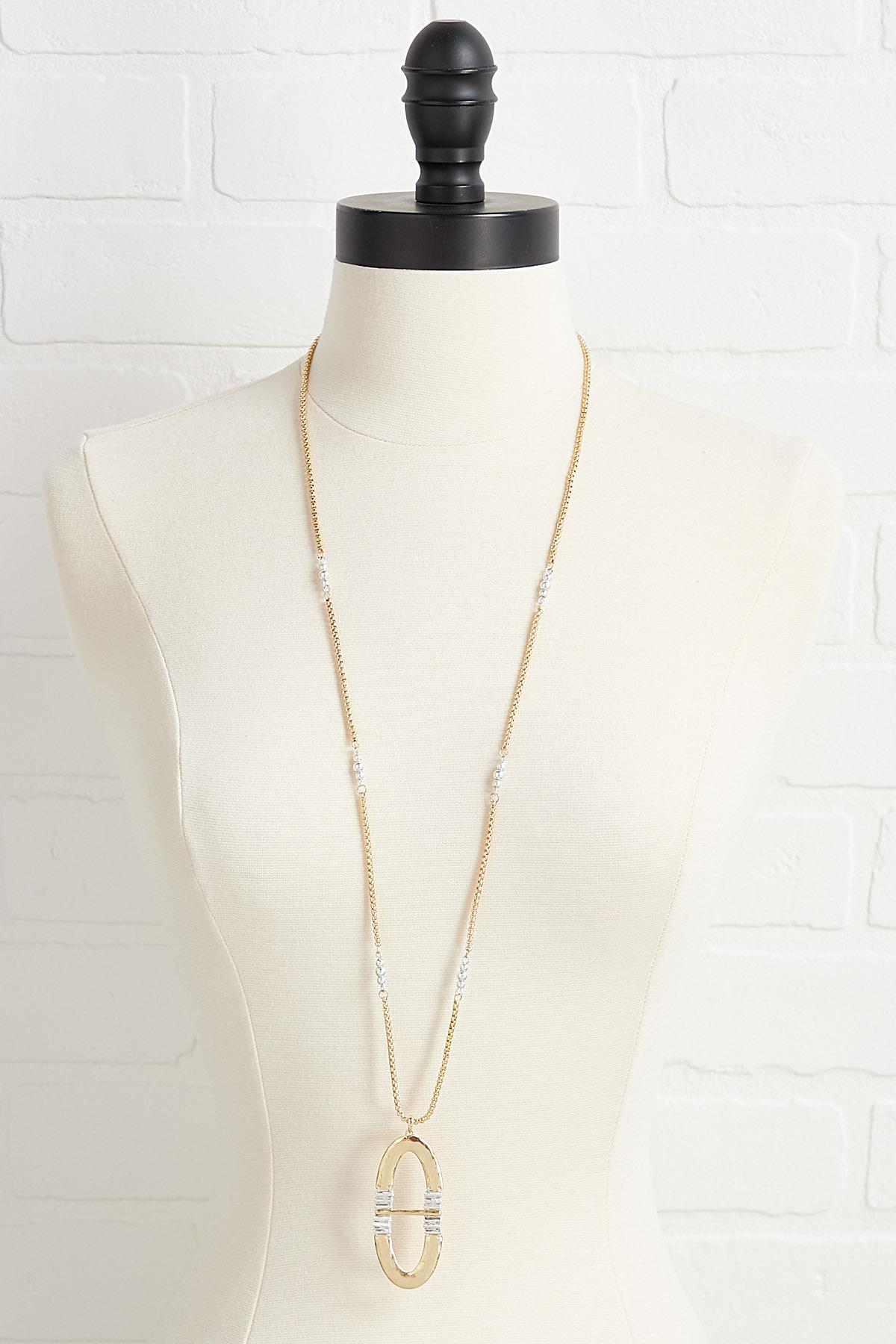 Artisan Oval Necklace