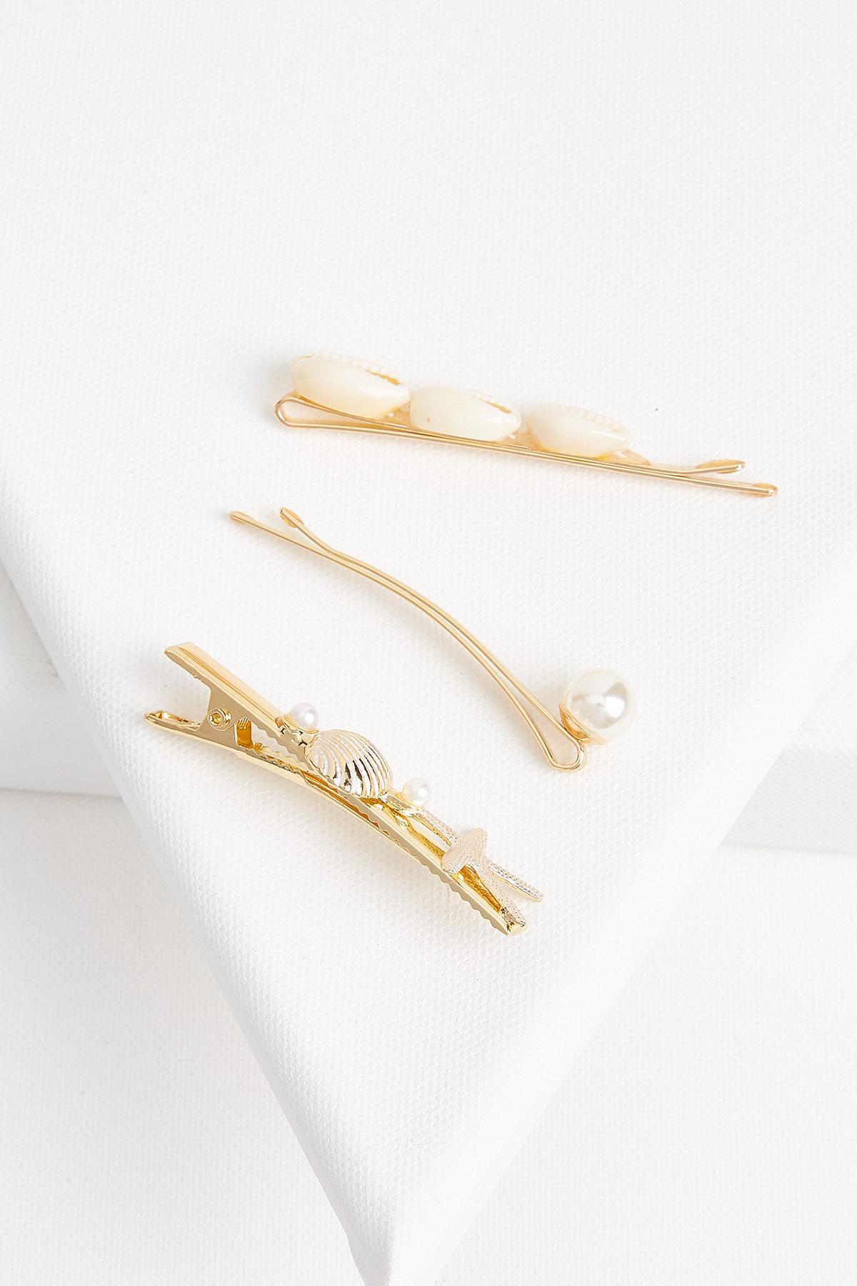 Pearly Puka Hair Pins
