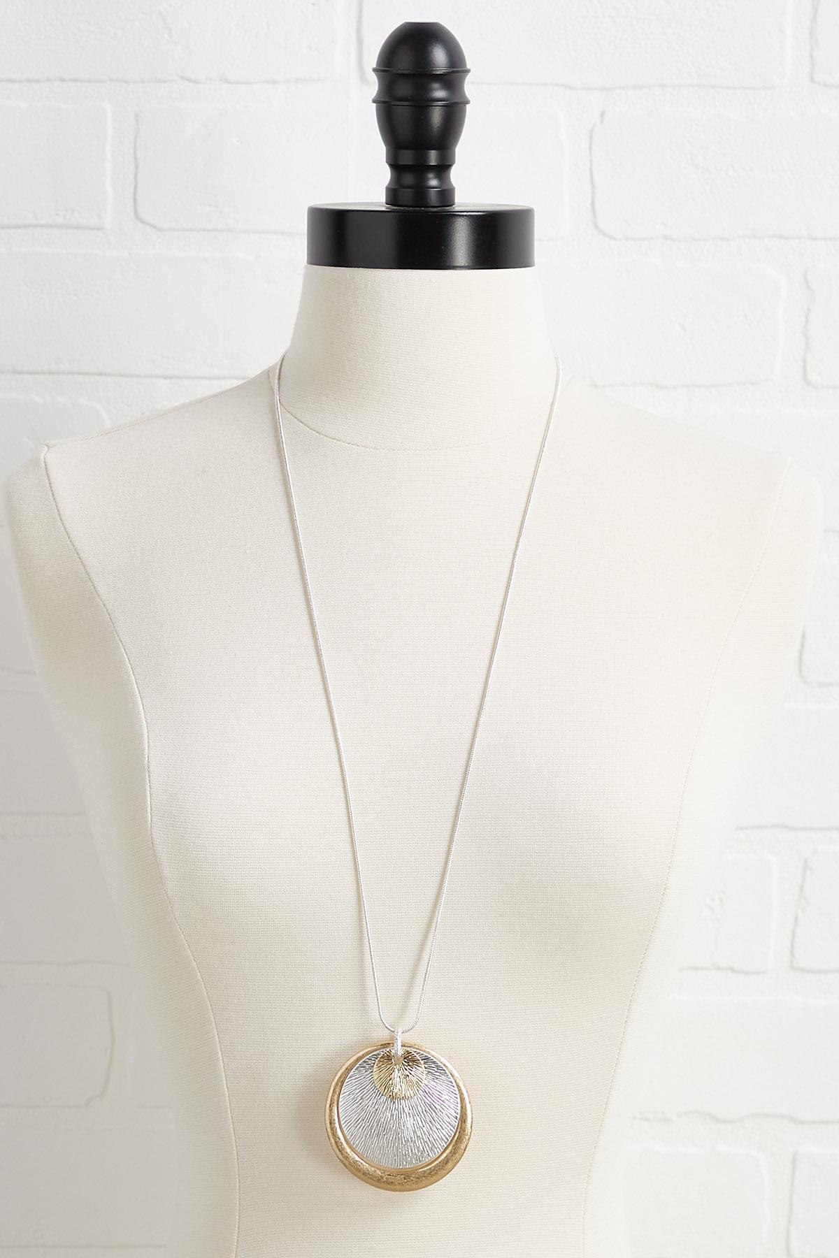 Multi Metal Pendant Necklace