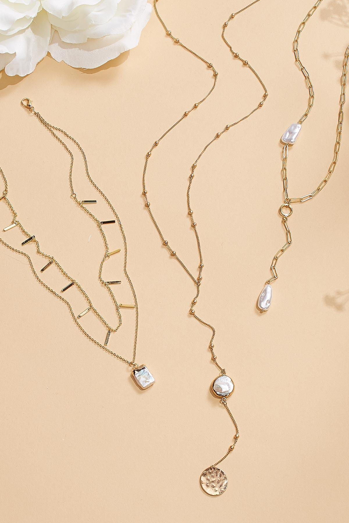Pearl And Coin Pendant Necklace