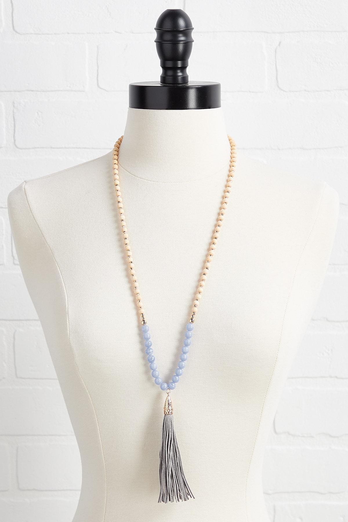 Suede Tassel Necklace