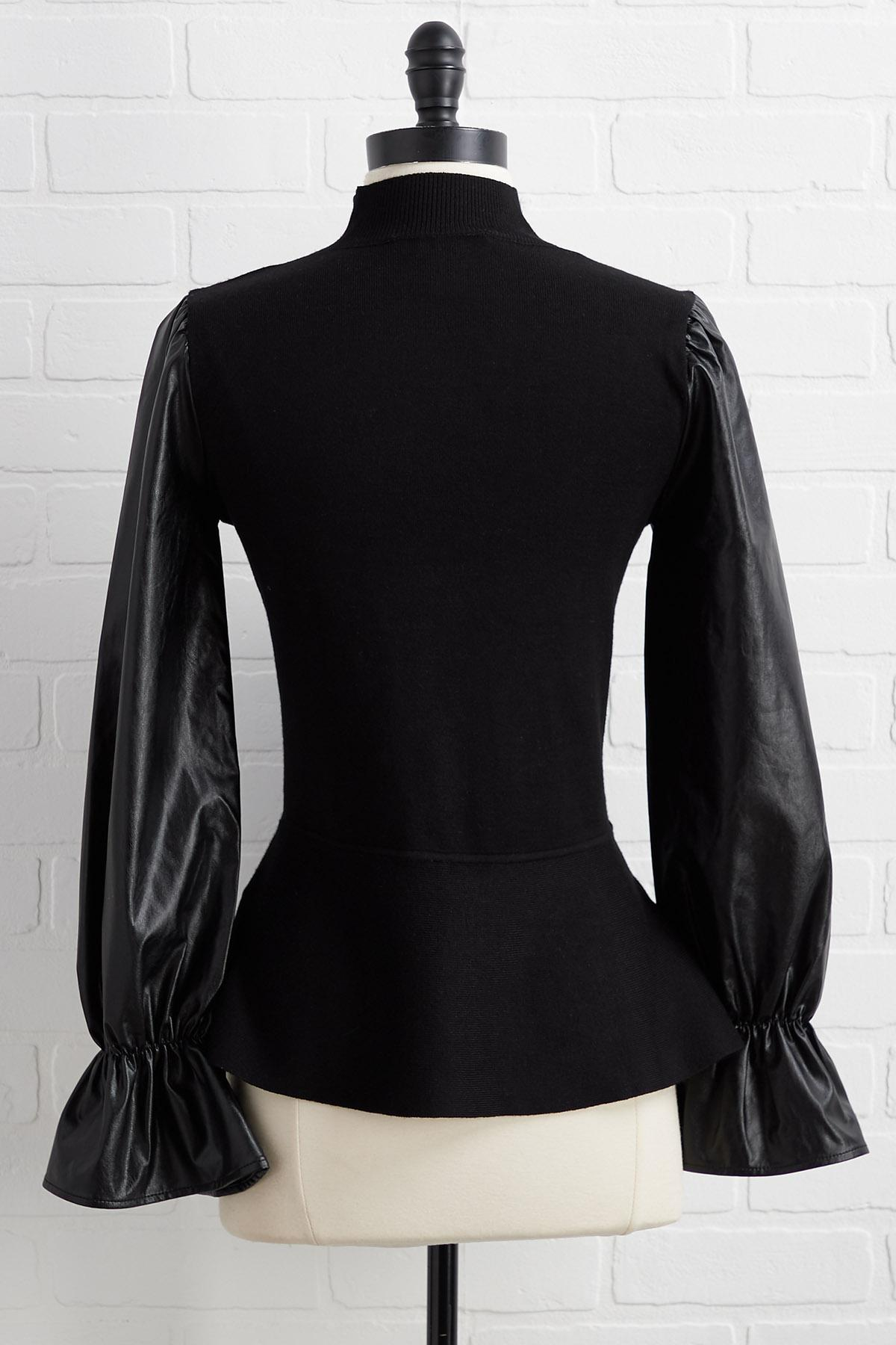 Leather Or Not Top