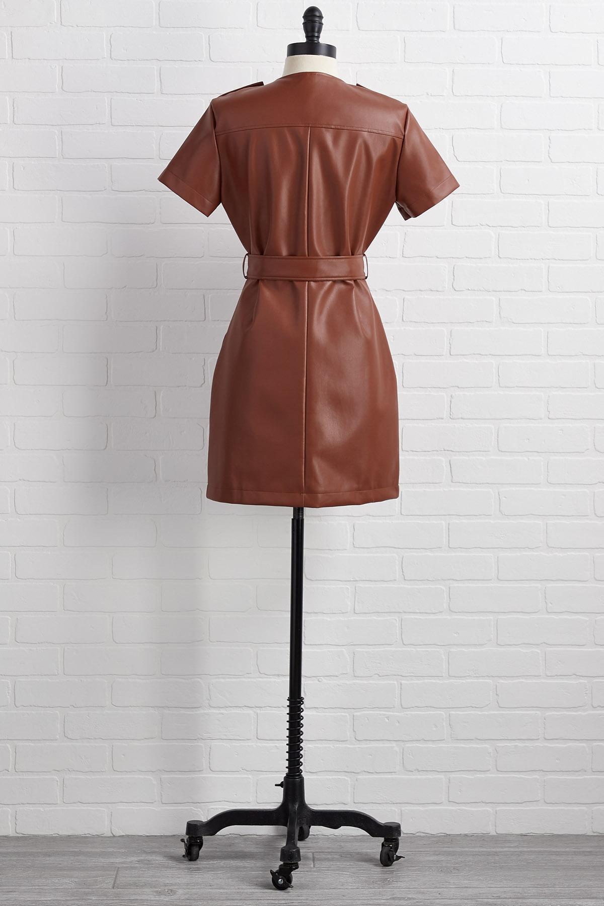 Leather Forecast Dress