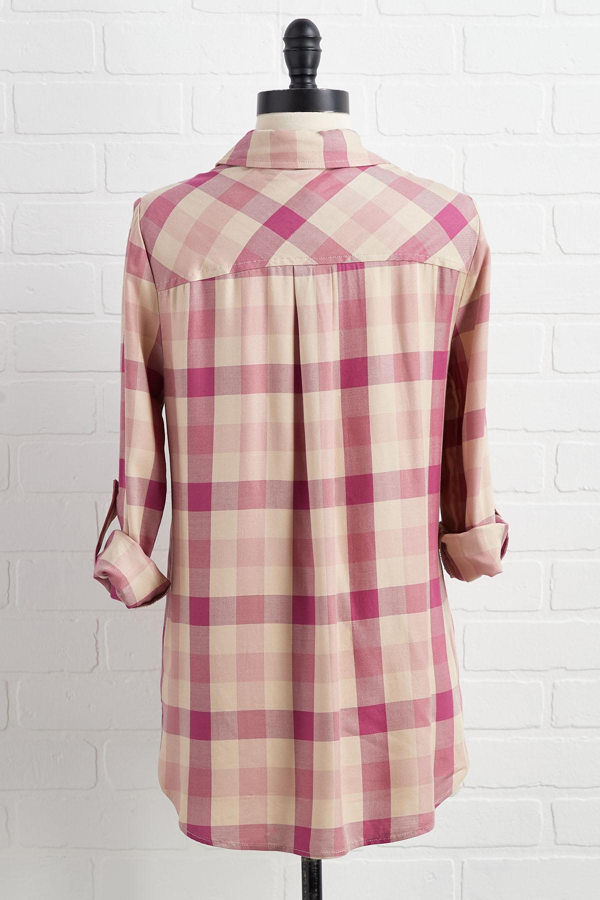 Made You Blush Plaid Shirt