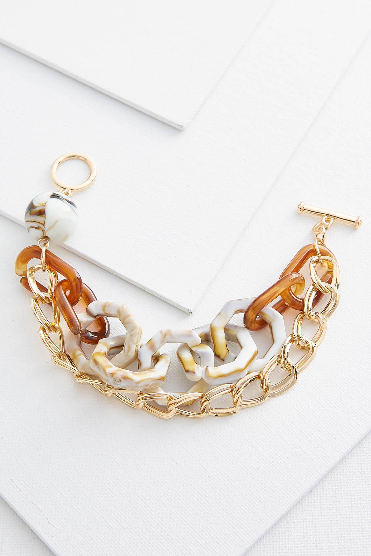 Lucite Toggle Chain Bracelet