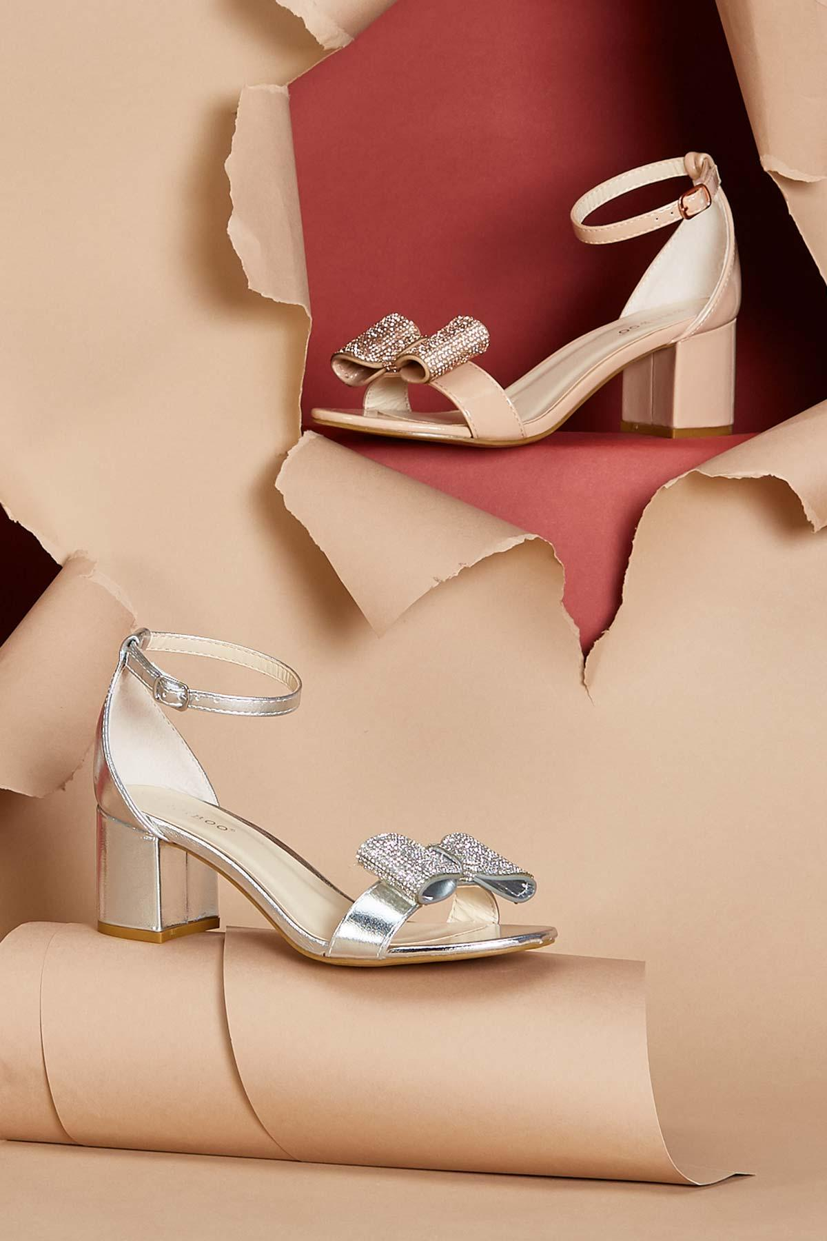 Bow Show Patent Heeled Sandals