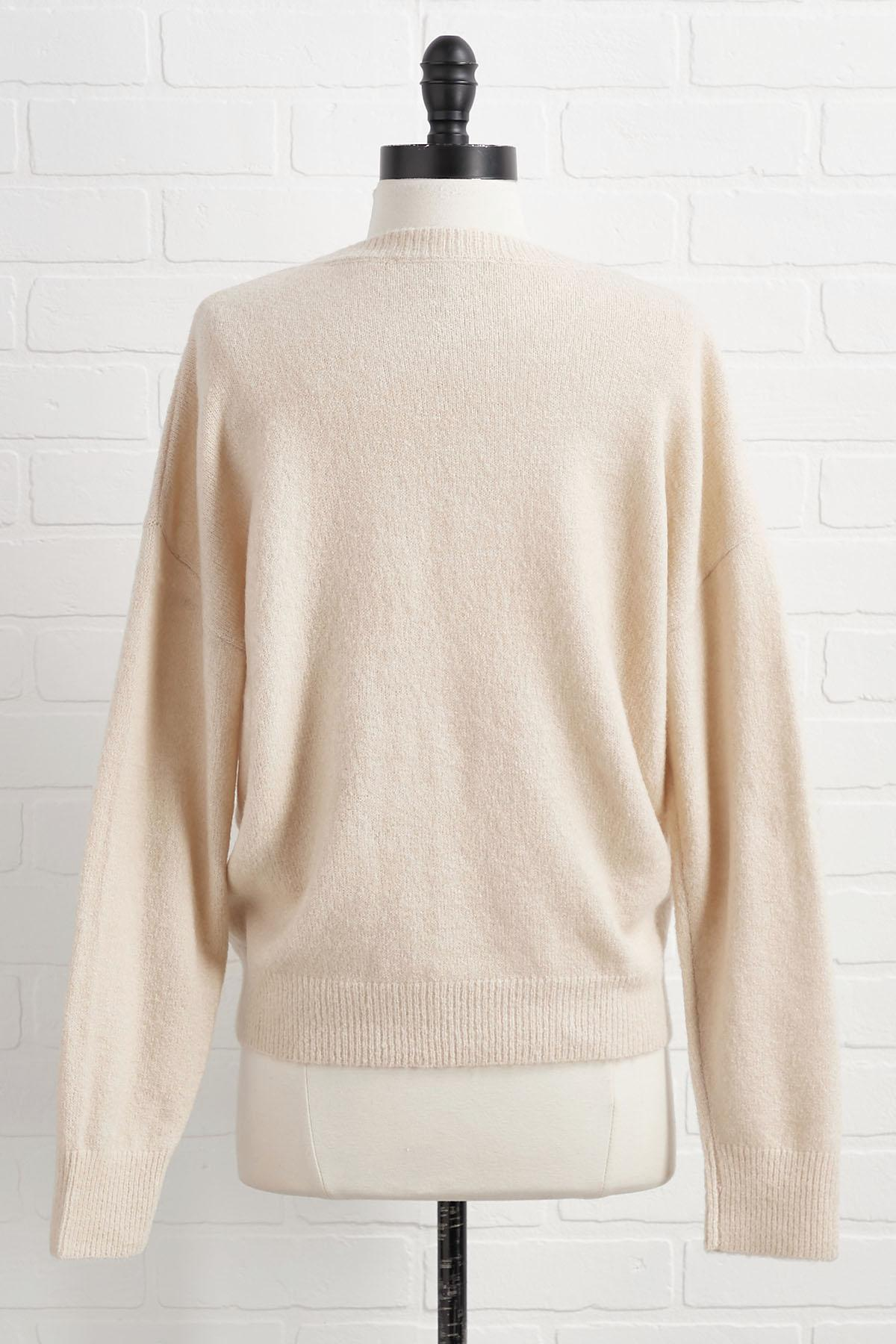 Let Me Be Up Front Cinch Sweater